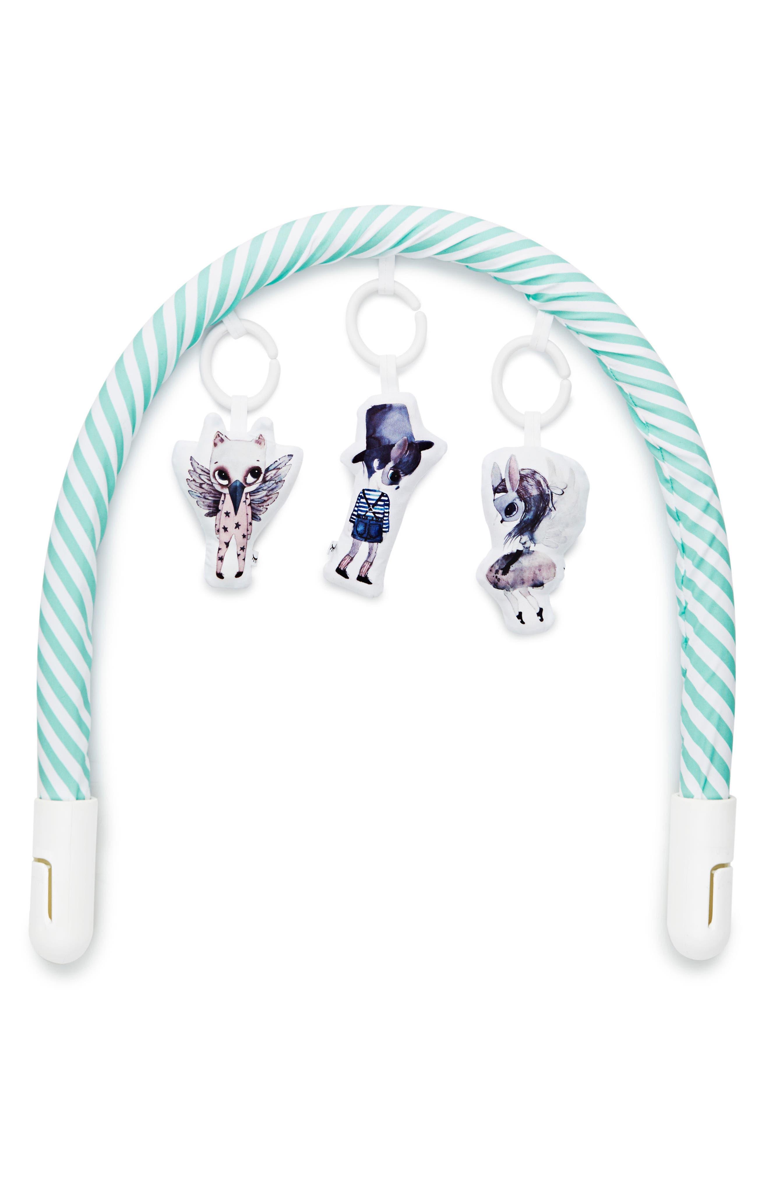 Toy Arch,                             Alternate thumbnail 3, color,                             Aqua/ White