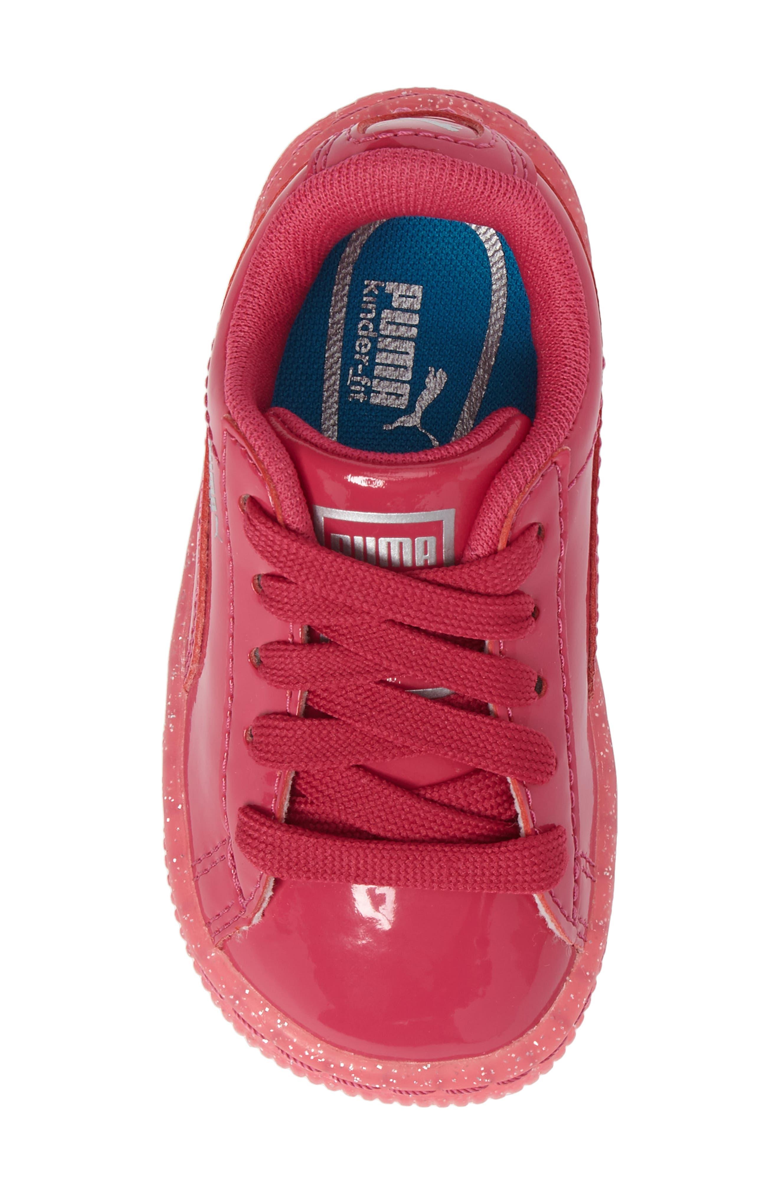 Basket Iced Glitter Sneaker,                             Alternate thumbnail 5, color,                             Beetroot Purple