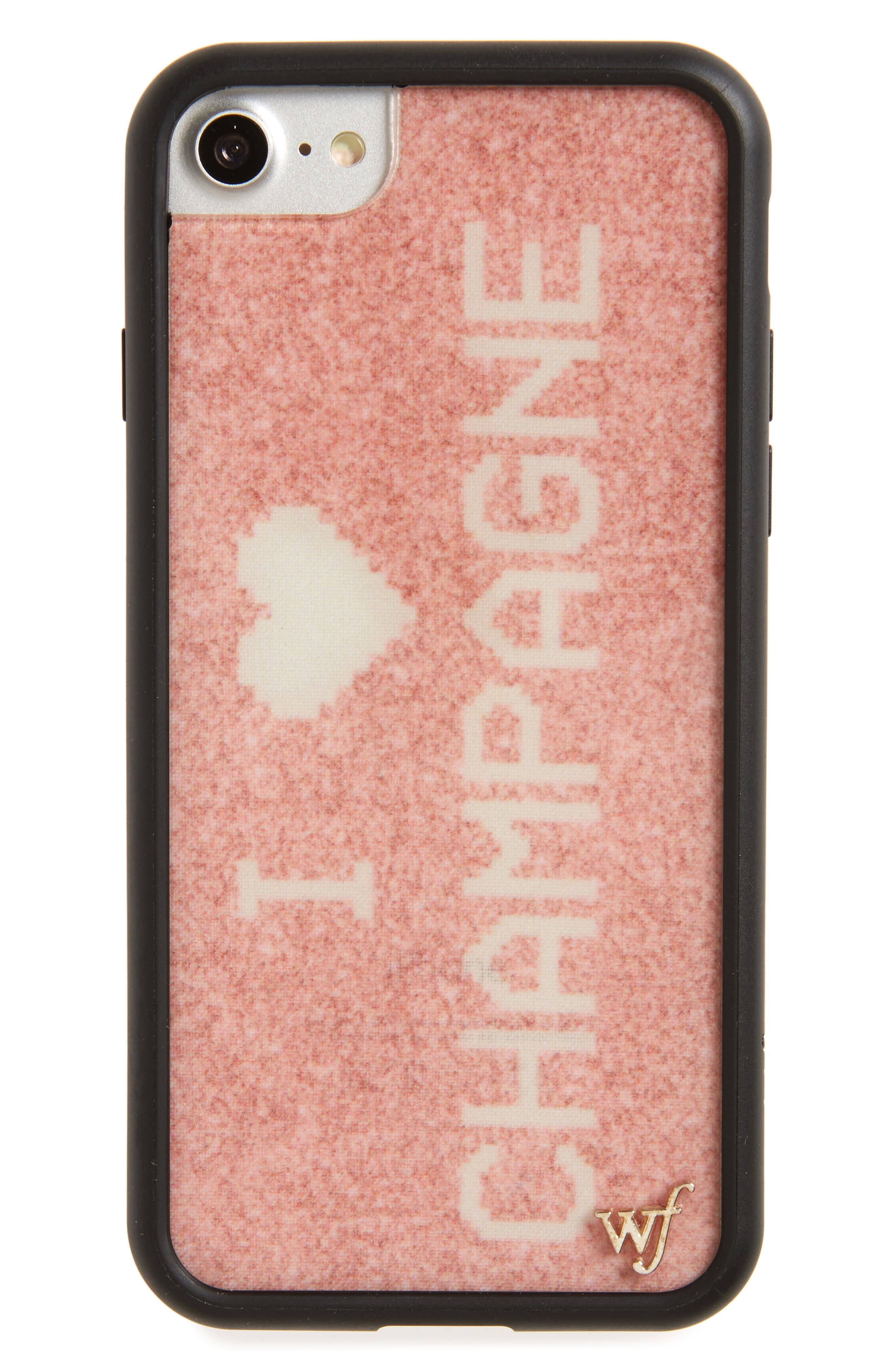 Main Image - Wildflower I Love Champagne iPhone 7 Case