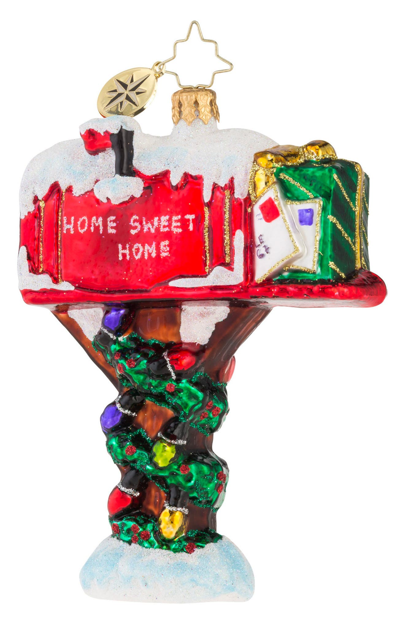 Holly Day Mail Ornament,                         Main,                         color, Red/ Multi