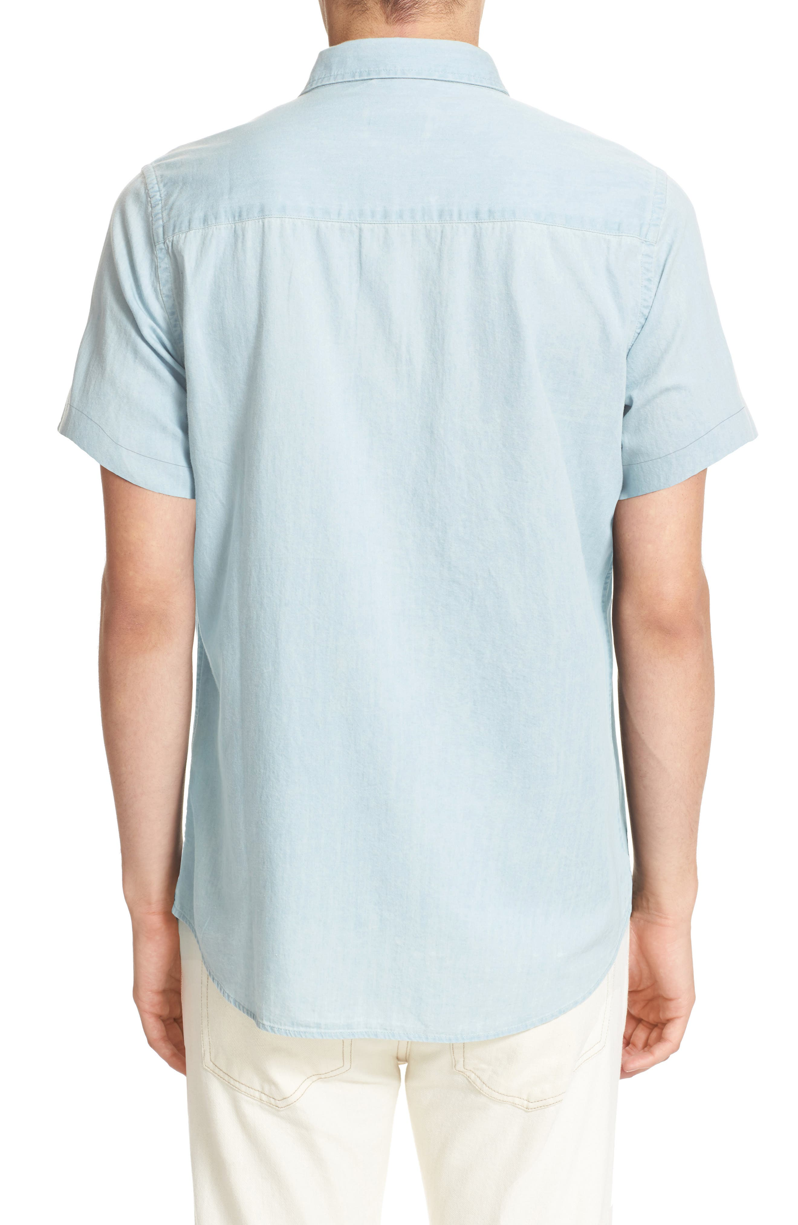 Alternate Image 2  - Saturdays NYC Esquina Slim Fit Denim Sport Shirt