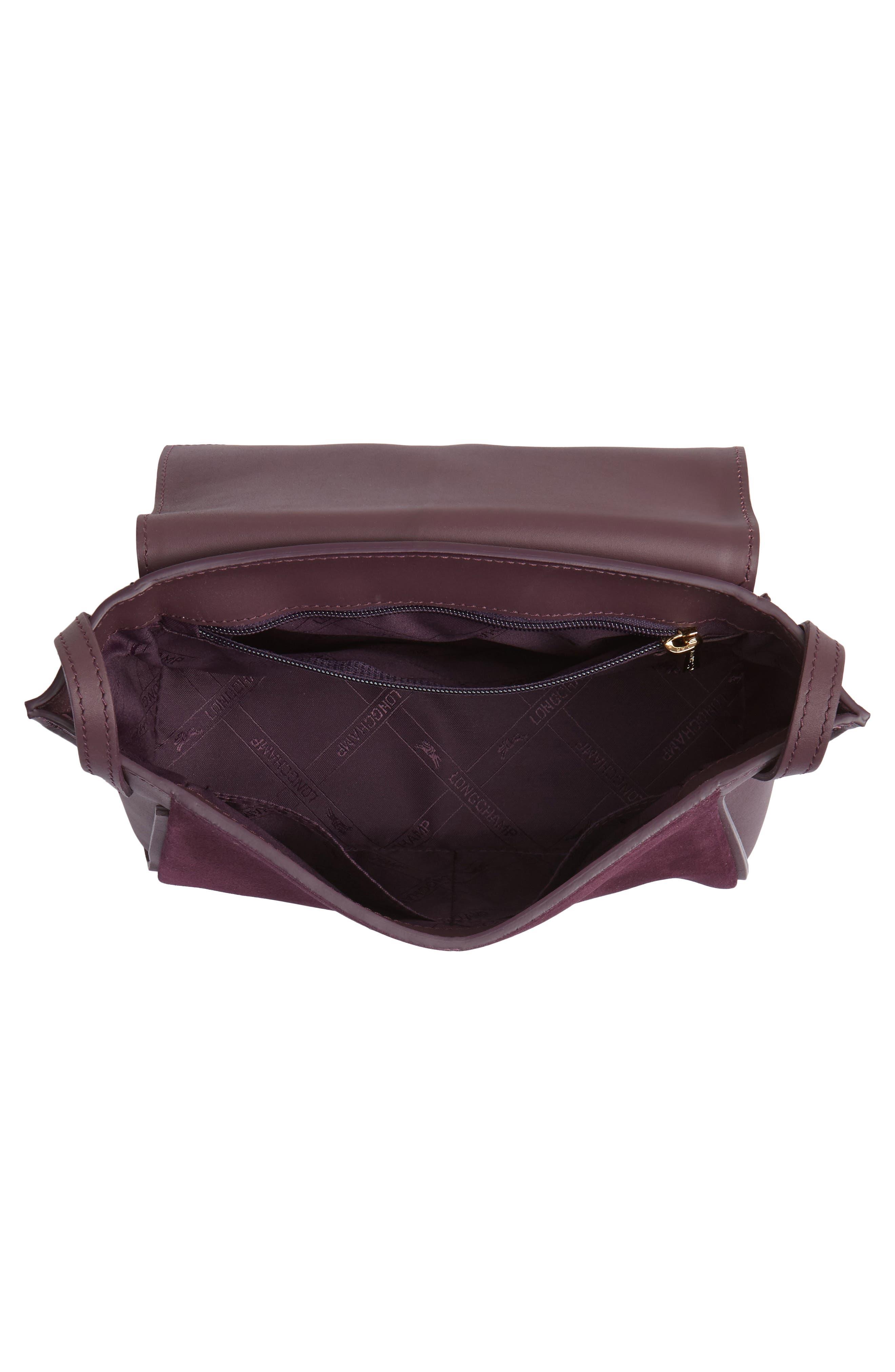 Alternate Image 4  - Longchamp Small Penelope Leather Crossbody Bag