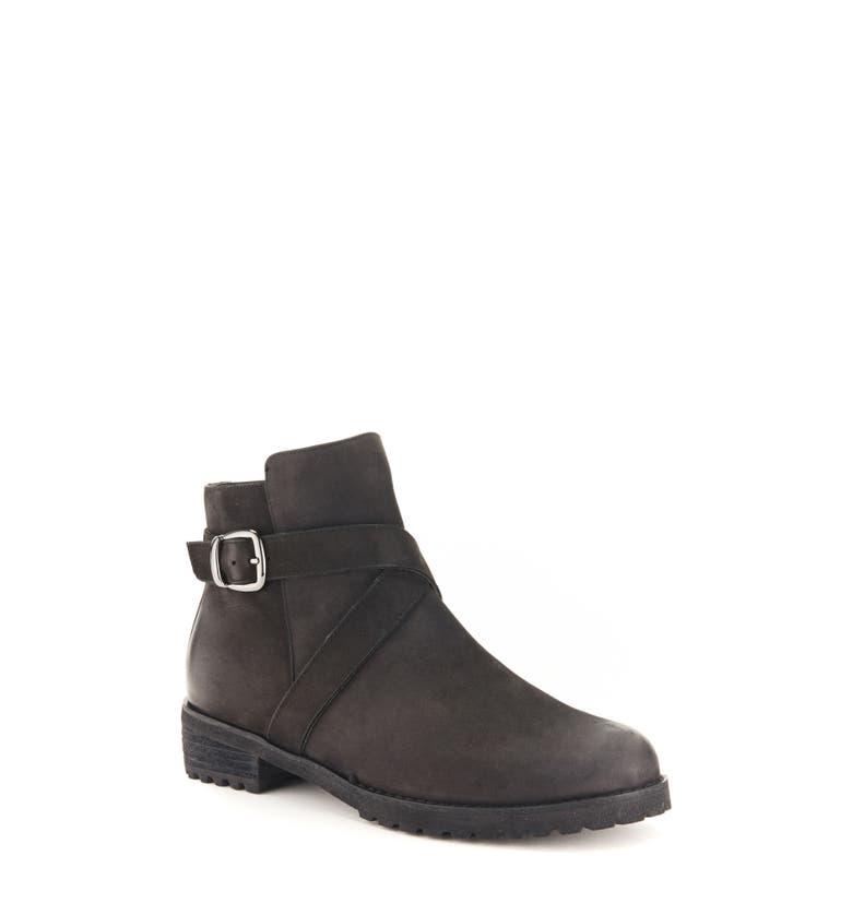 Varta Waterproof Bootie,                         Main,                         color, Black Nubuck Leather
