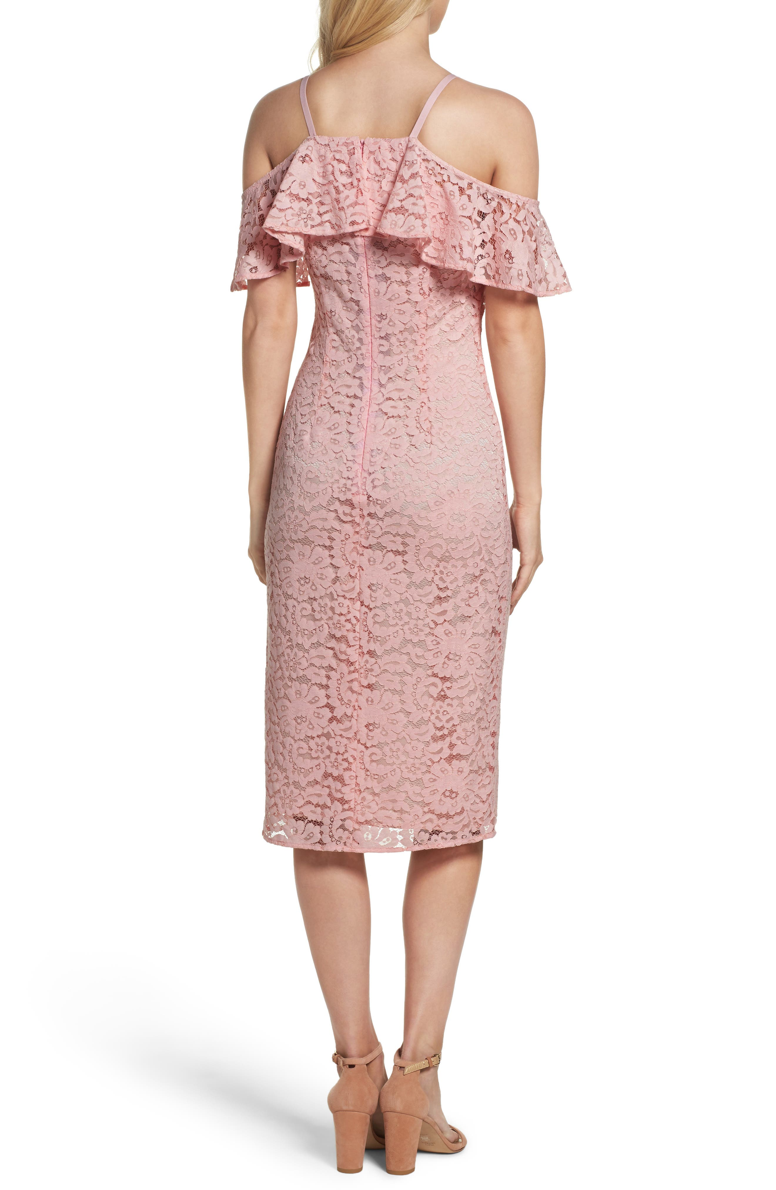 Mysterious Off the Shoulder Dress,                             Alternate thumbnail 2, color,                             Pink Champagne