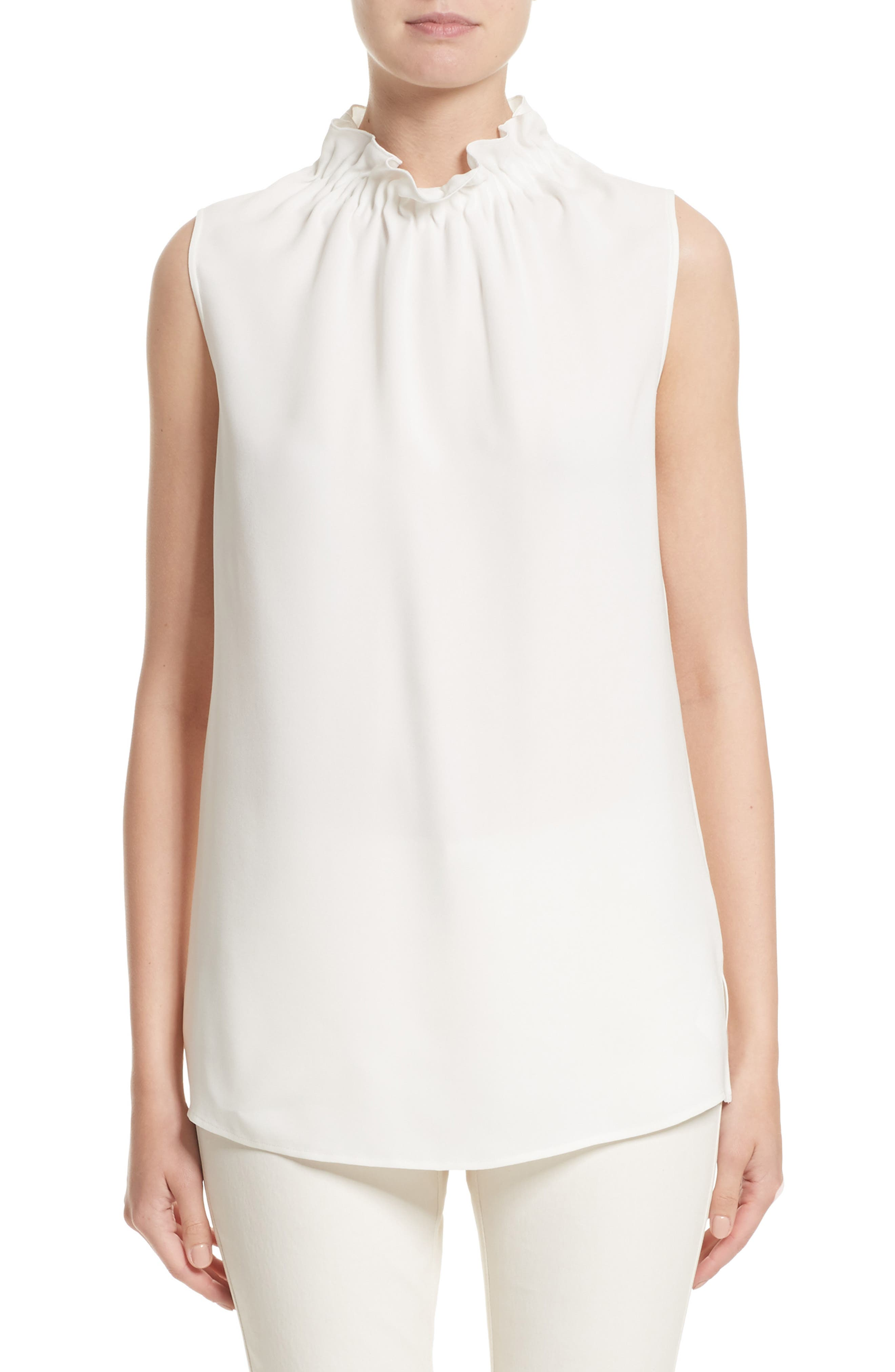 Main Image - Lafayette 148 New York Percy Silk Double Georgette Blouse