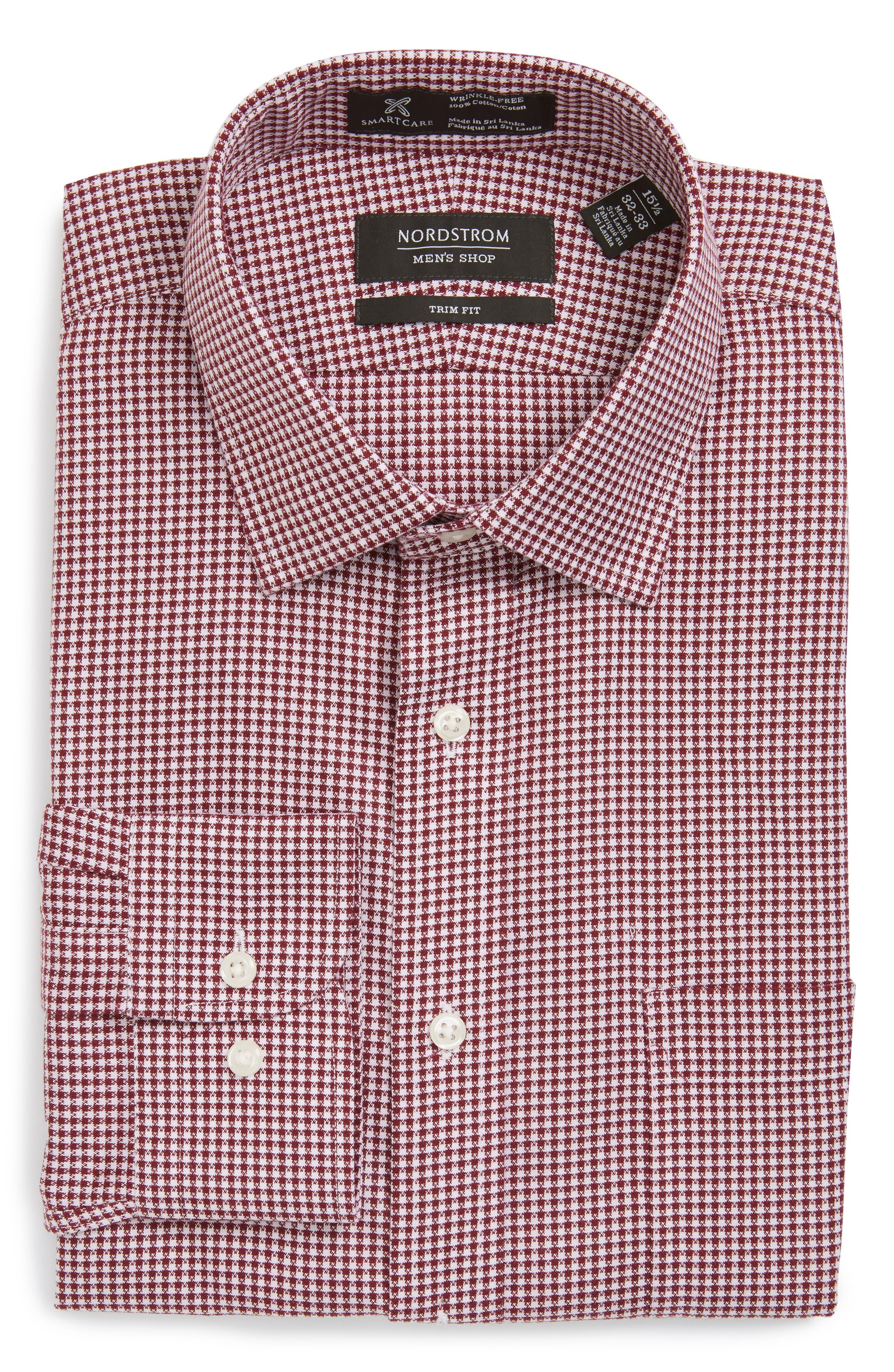 Alternate Image 1 Selected - Nordstrom Men's Shop Smartcare™ Trim Fit Check Dress Shirt