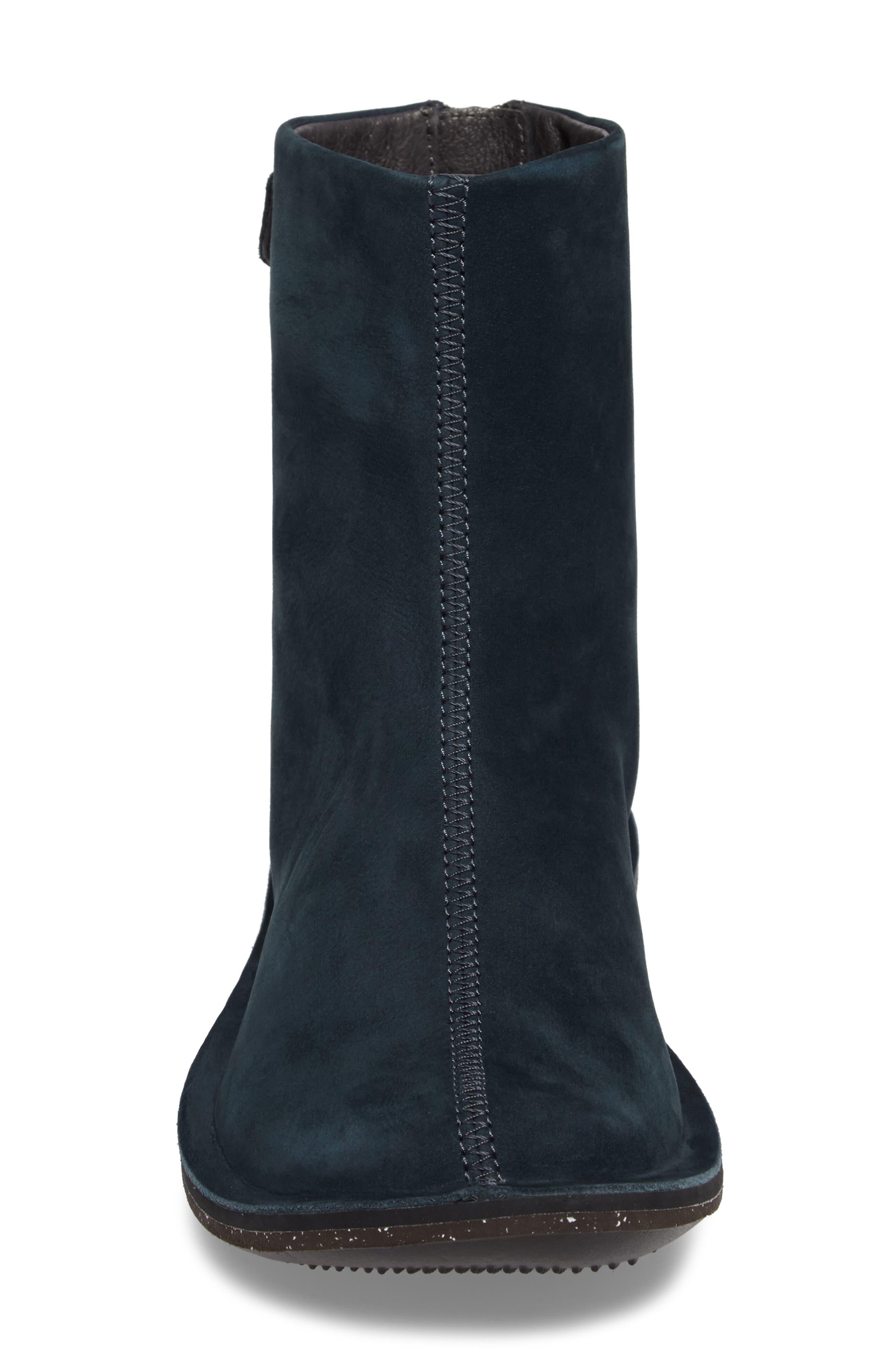 'Beetle Mid' Boot,                             Alternate thumbnail 4, color,                             Dark Blue Leather