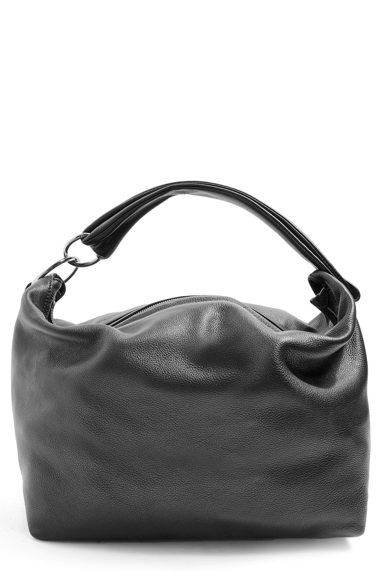 Topshop Leather Hobo Bag