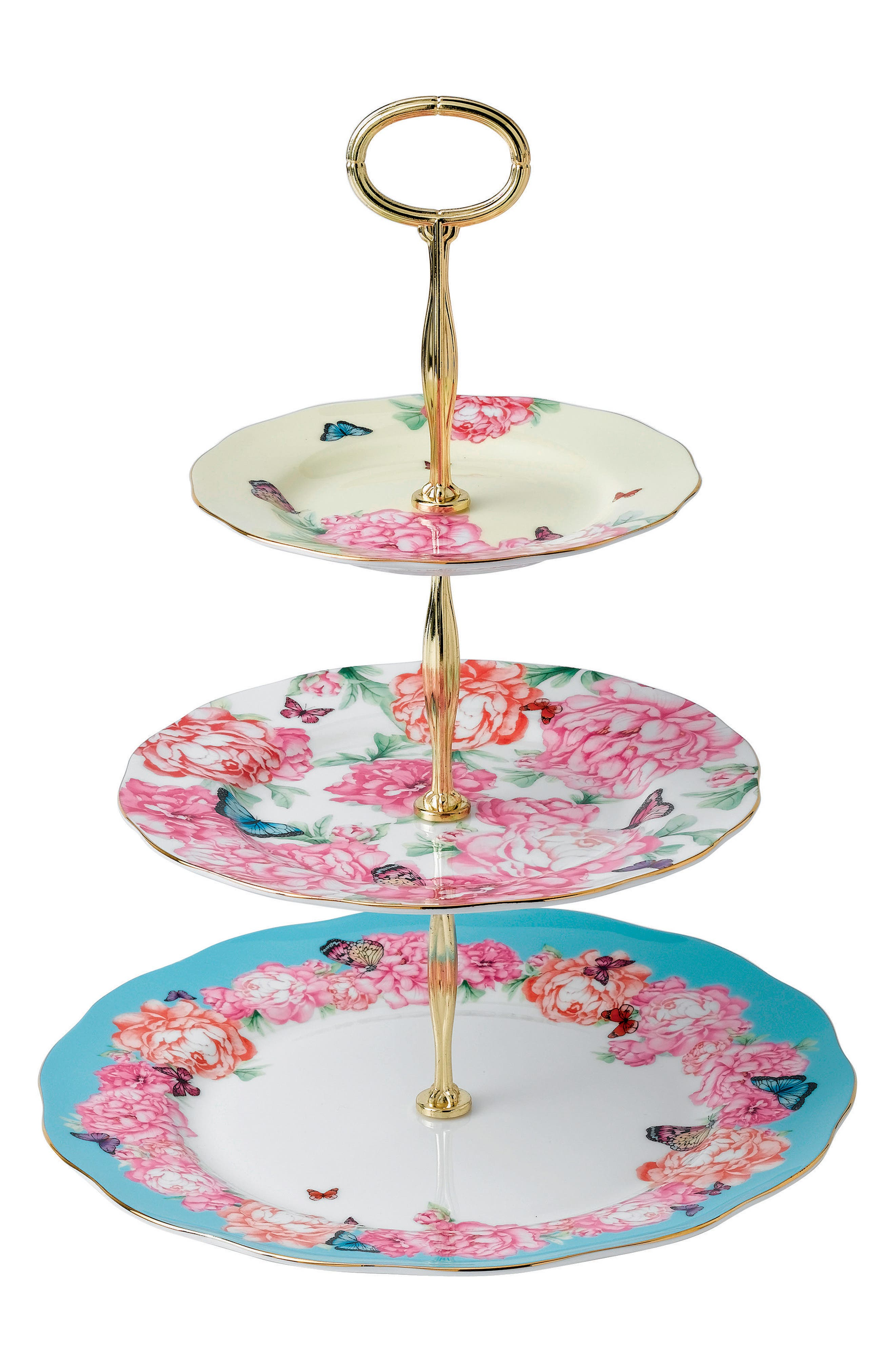 Main Image - Miranda Kerr for Royal Albert Mixed Accents 3-Tier Cake Stand