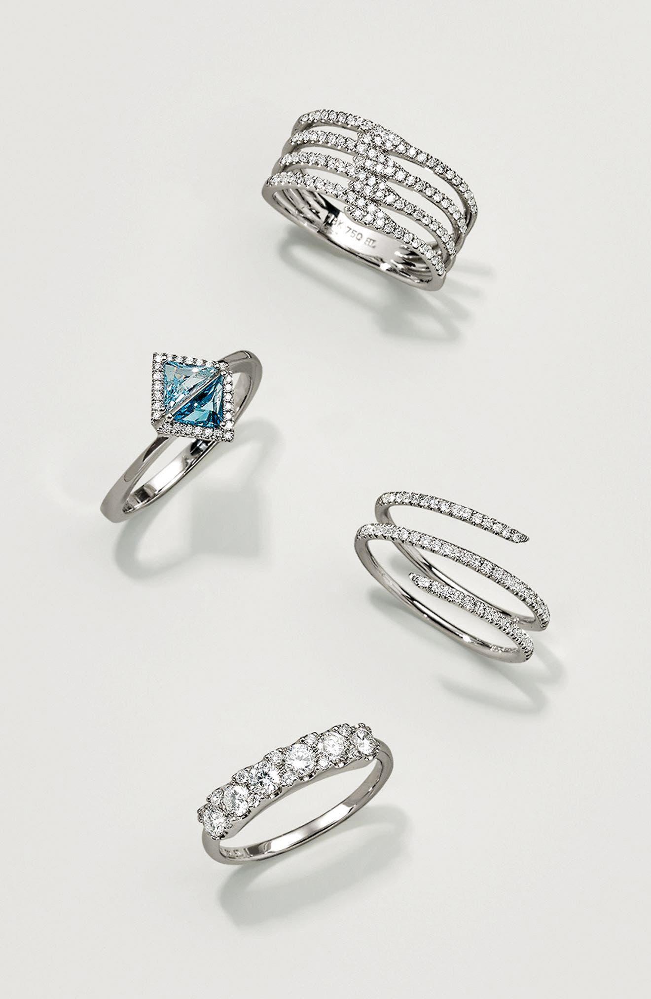 Diamond Coil Ring,                             Alternate thumbnail 4, color,