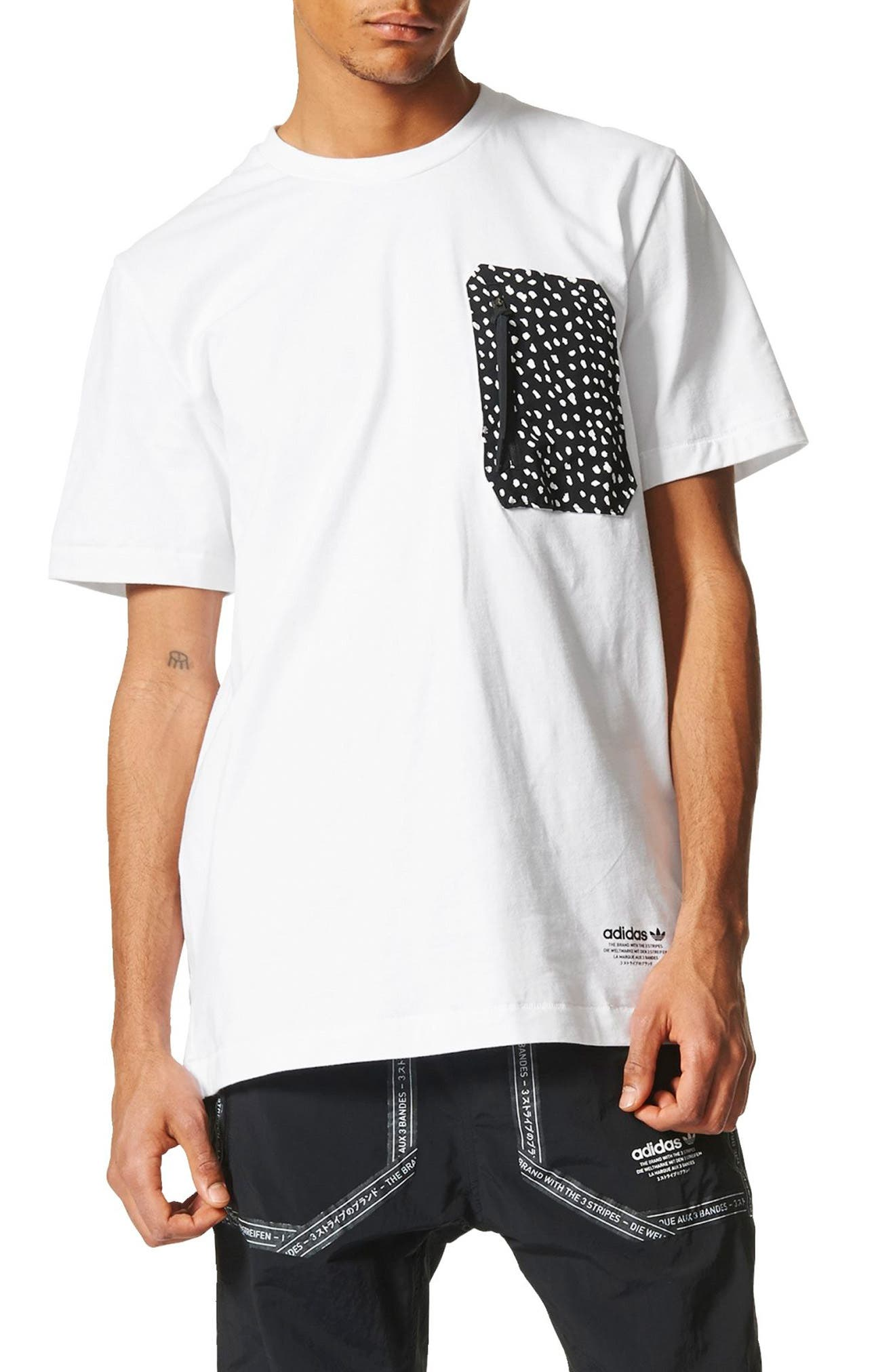 NMD T-Shirt,                             Main thumbnail 1, color,                             White