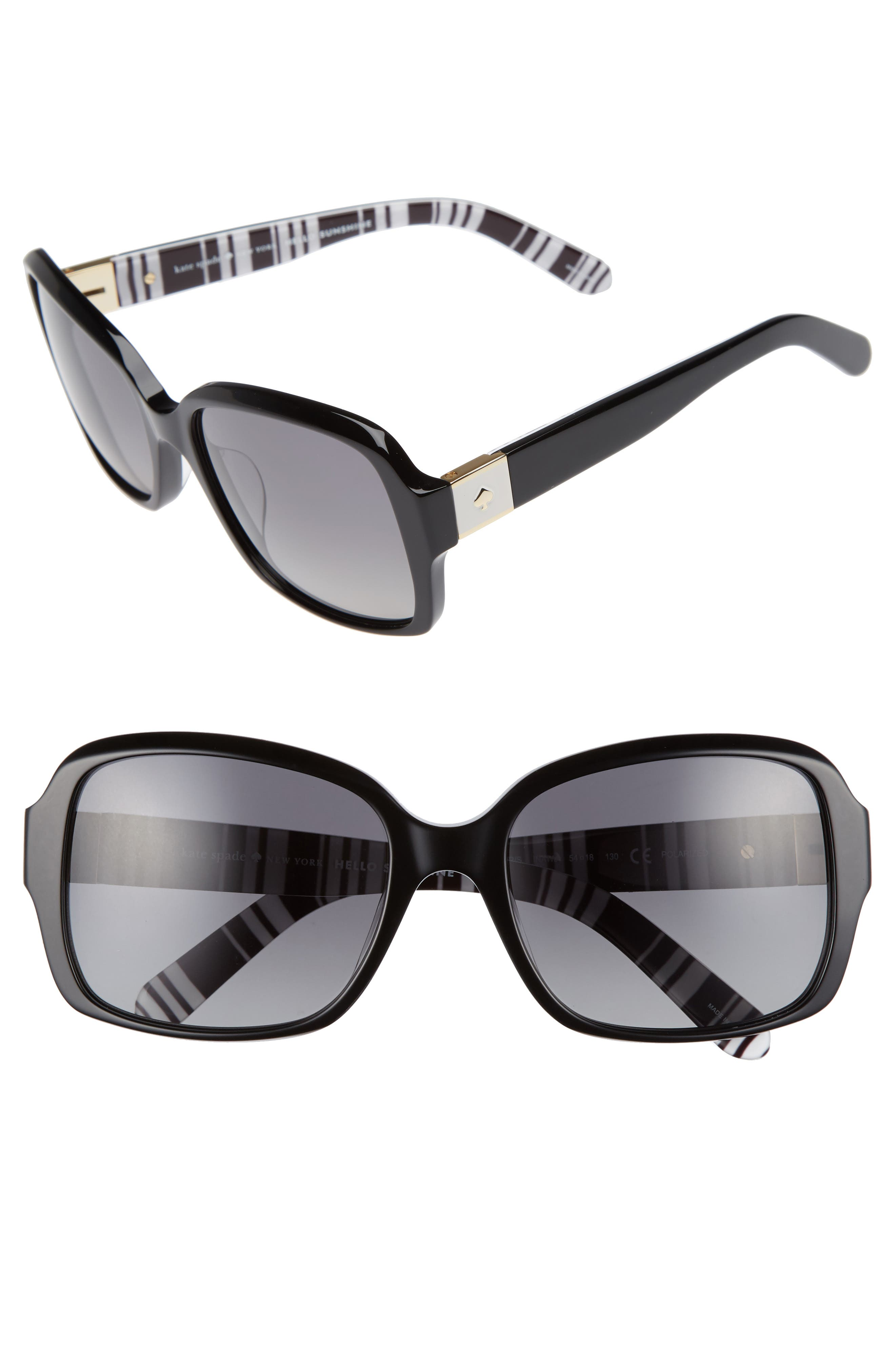 Alternate Image 1 Selected - kate spade new york annor 54mm polarized sunglasses