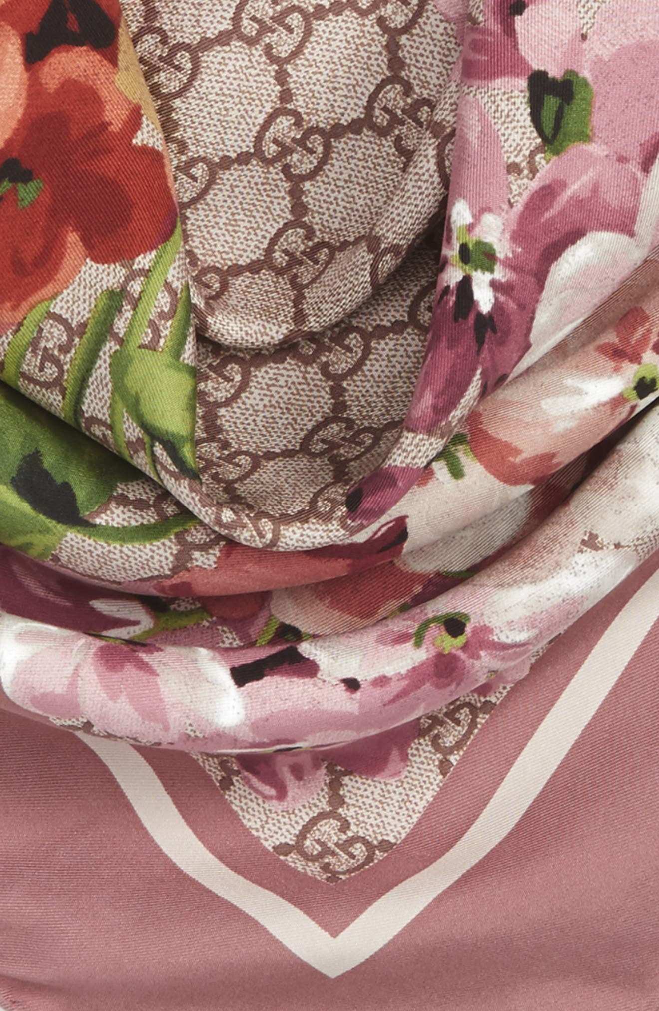 Alternate Image 3  - Gucci GG Blooms Foulard Scarf