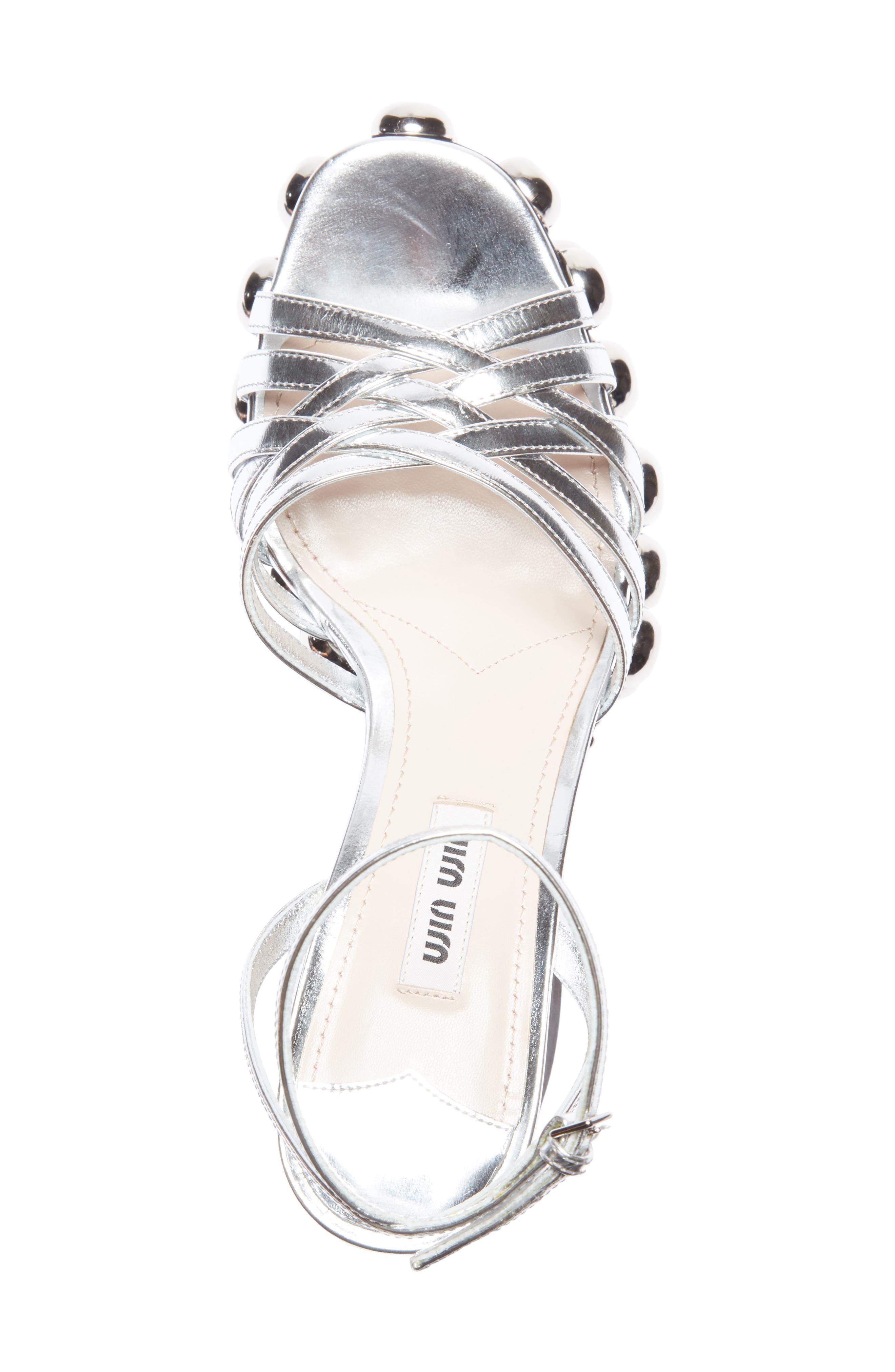 Alternate Image 4  - Miu Miu Studded Platform Sandal (Women)