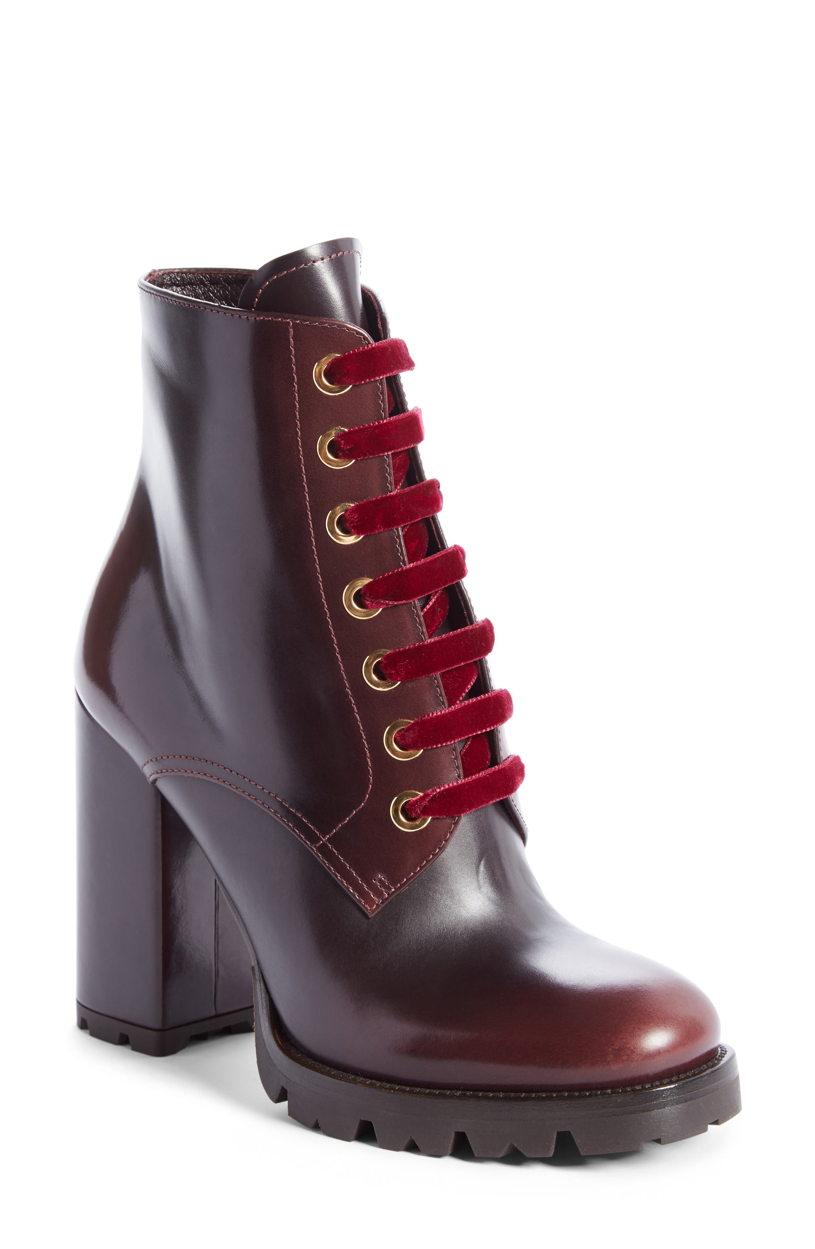 Prada Lace-Up Boot (Women)