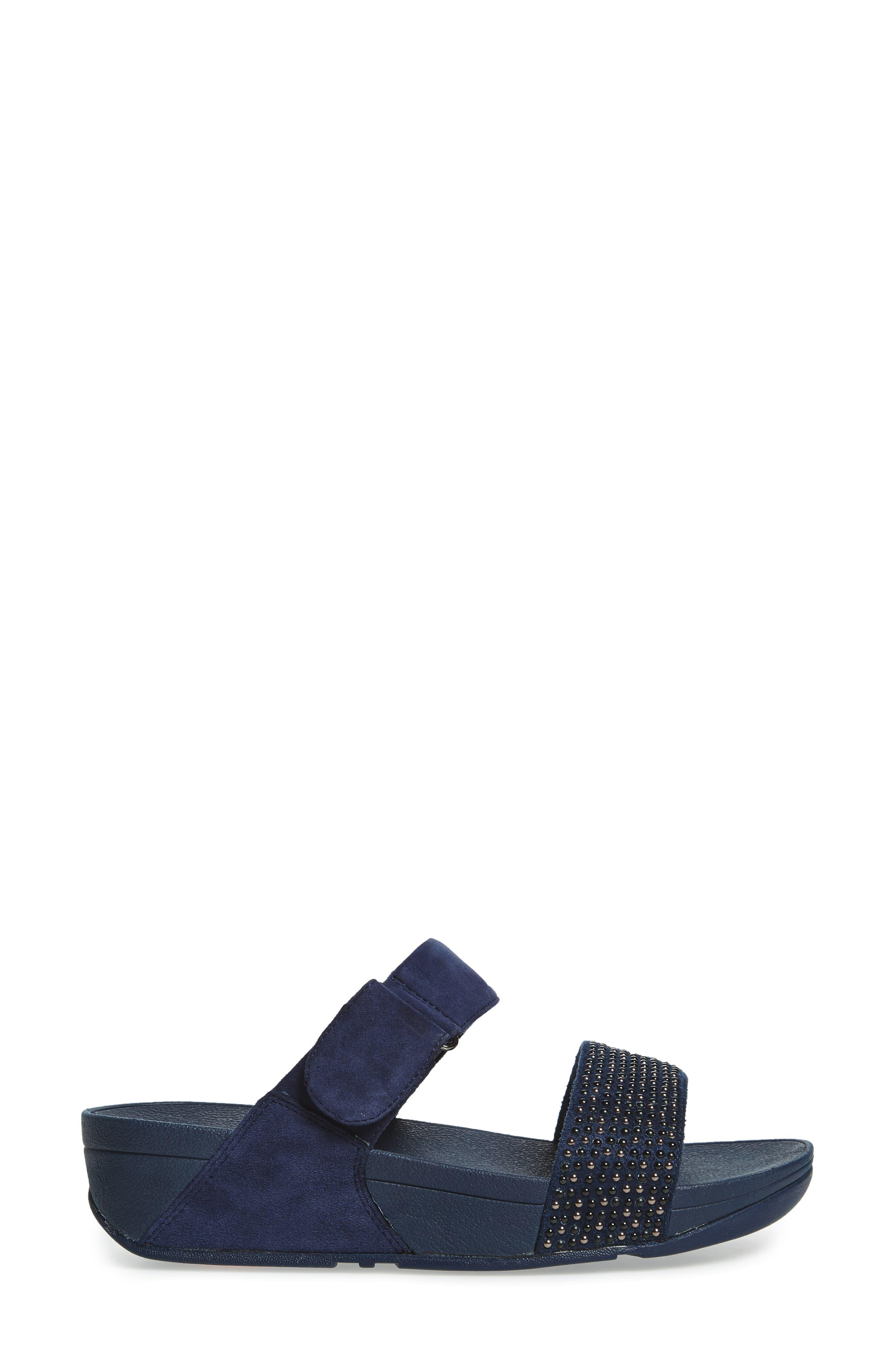 Alternate Image 3  - FitFlop Lulu Popstud Wedge Slide Sandal (Women)