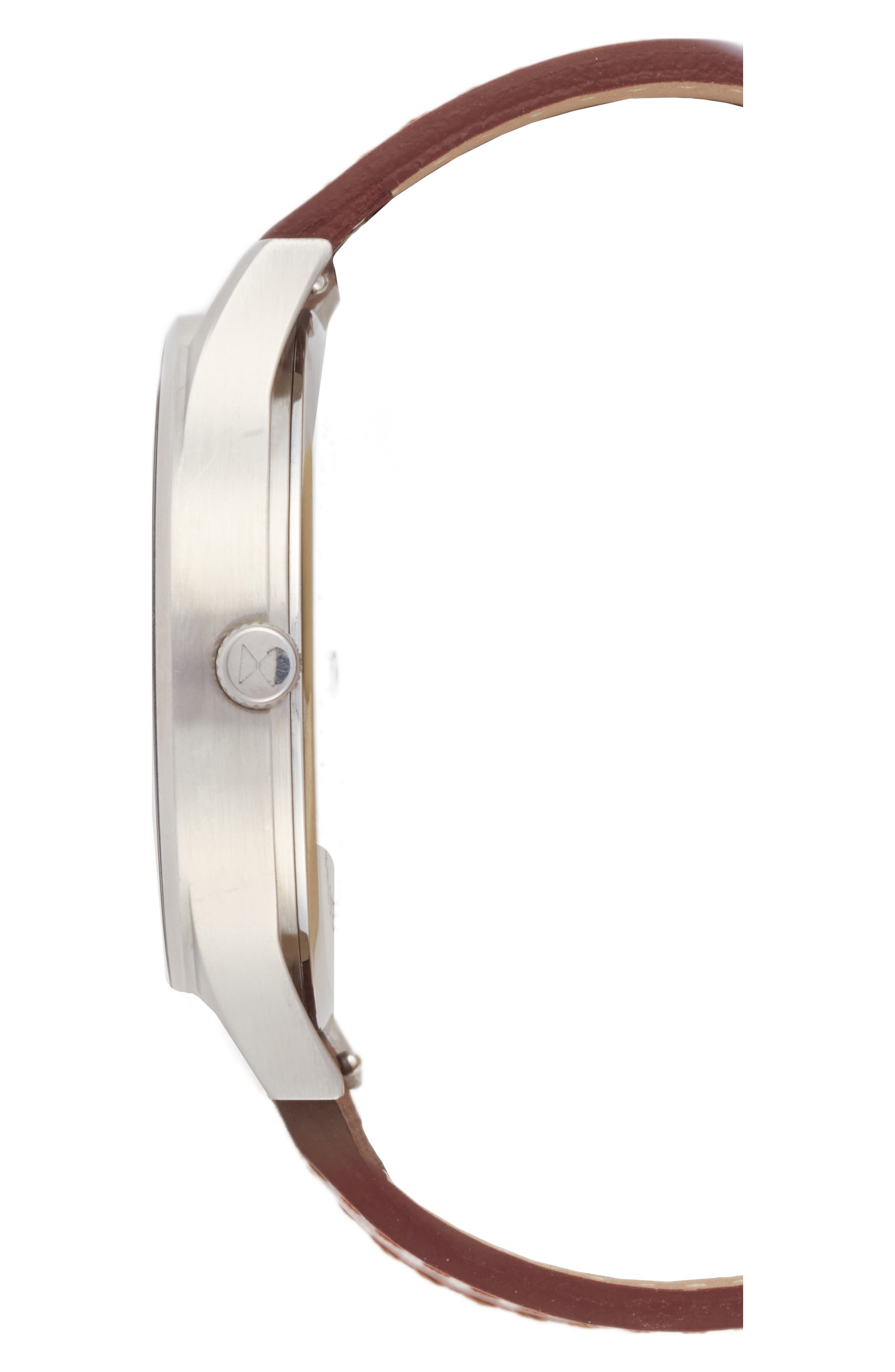 Alternate Image 3  - MVMT The Classic Leather Strap Watch, 45mm (Nordstrom Exclusive)