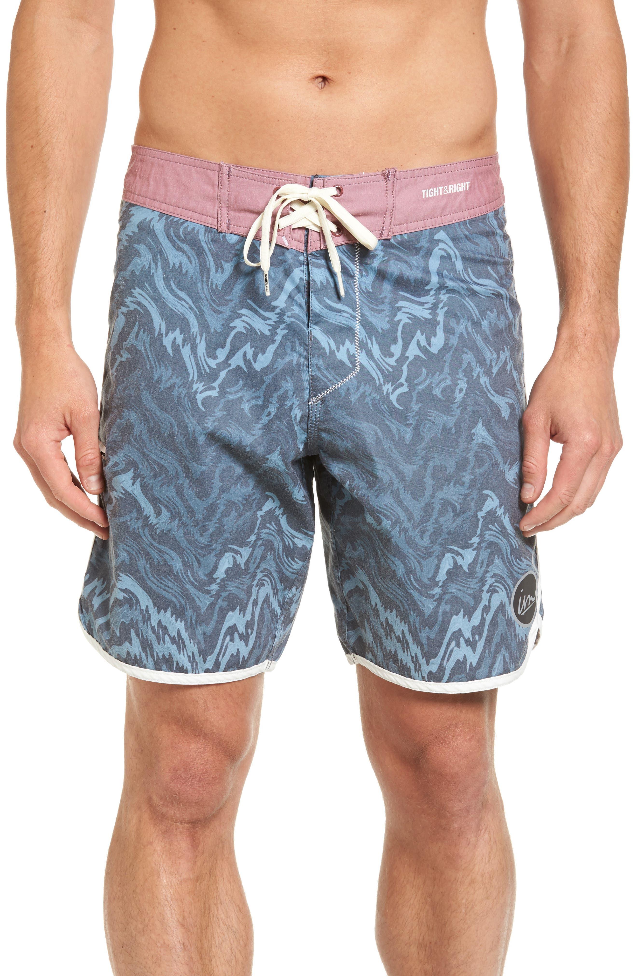 Ripple Board Shorts,                         Main,                         color, Navy