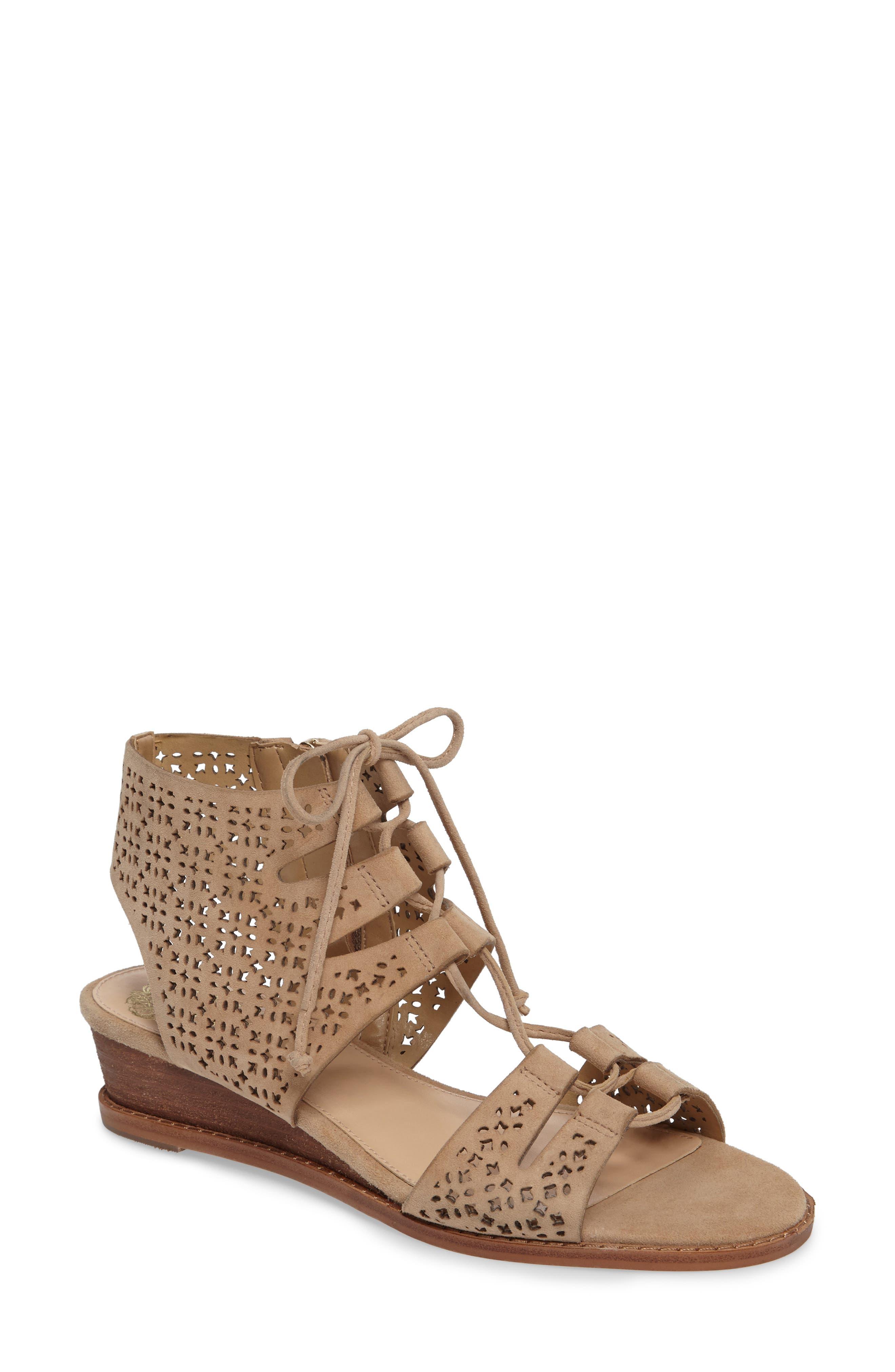 VINCE CAMUTO Retana Perforated Wedge Sandal