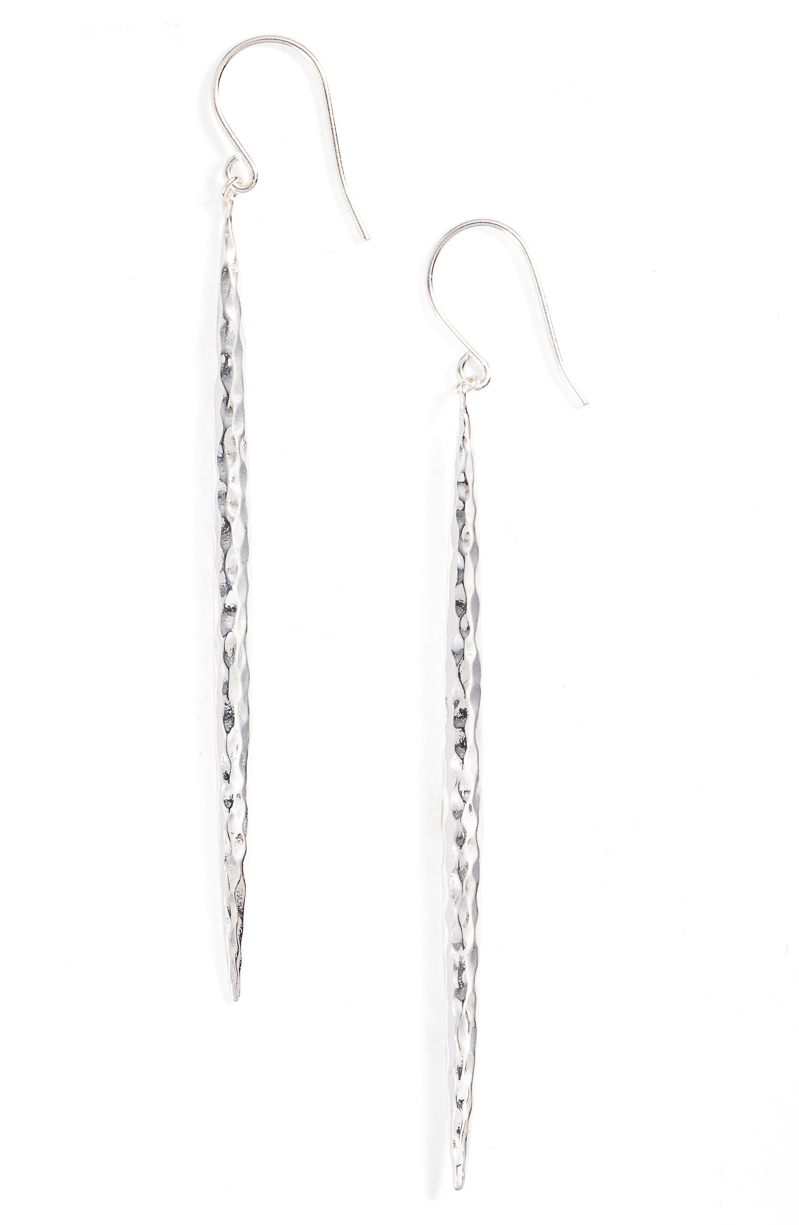 Nora Linear Earrings,                             Main thumbnail 1, color,                             Silver
