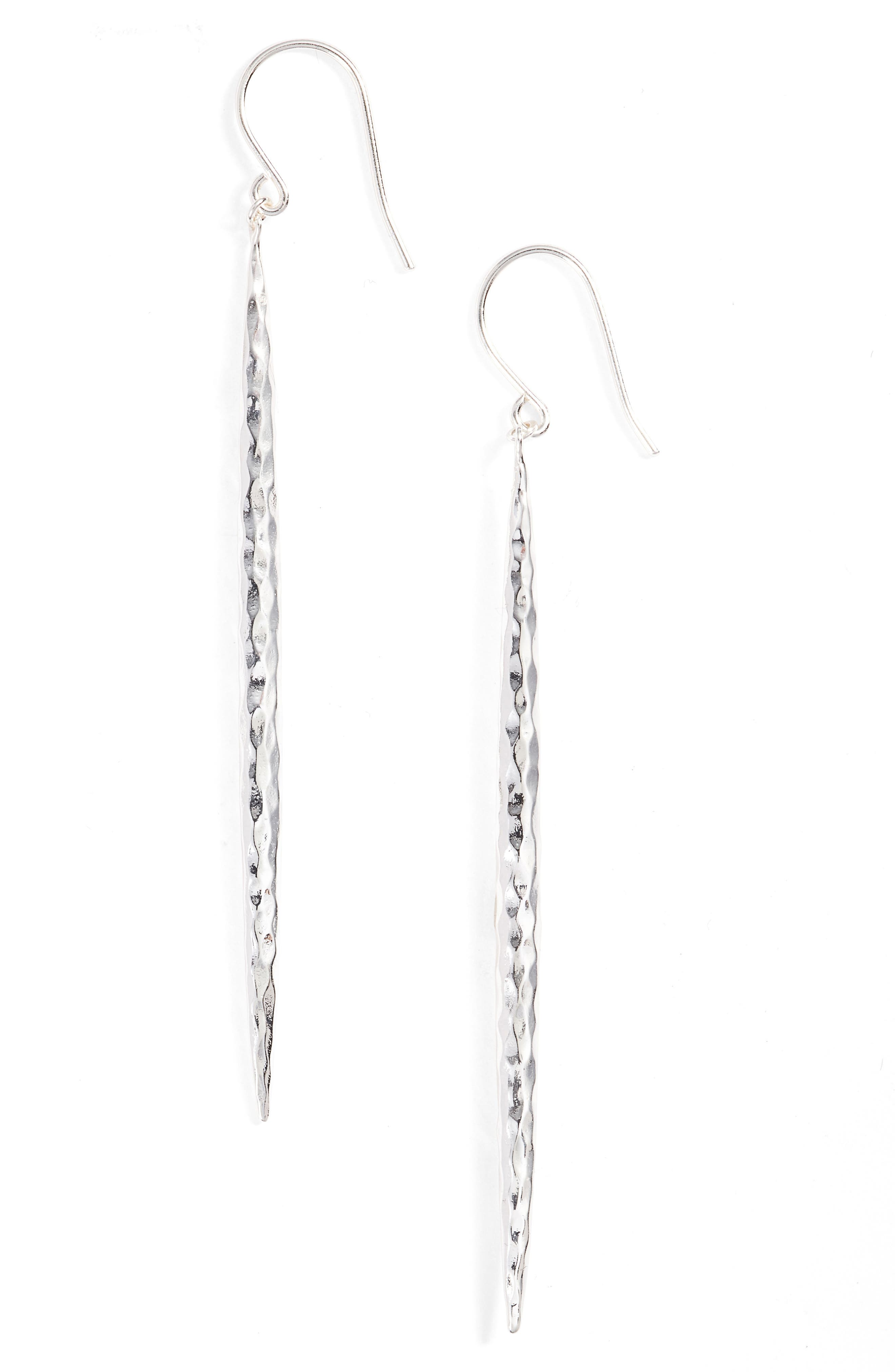 Nora Linear Earrings,                         Main,                         color, Silver