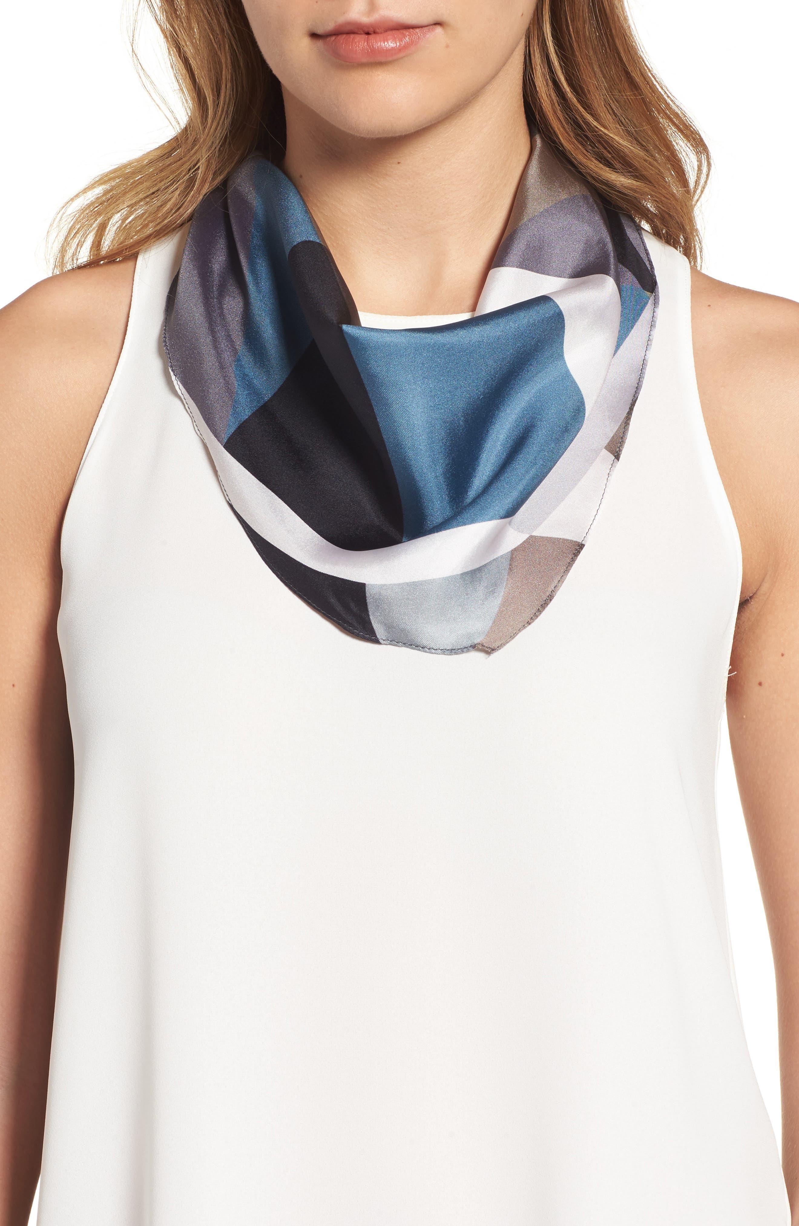 Echo Modern Art Diamond Silk Scarf