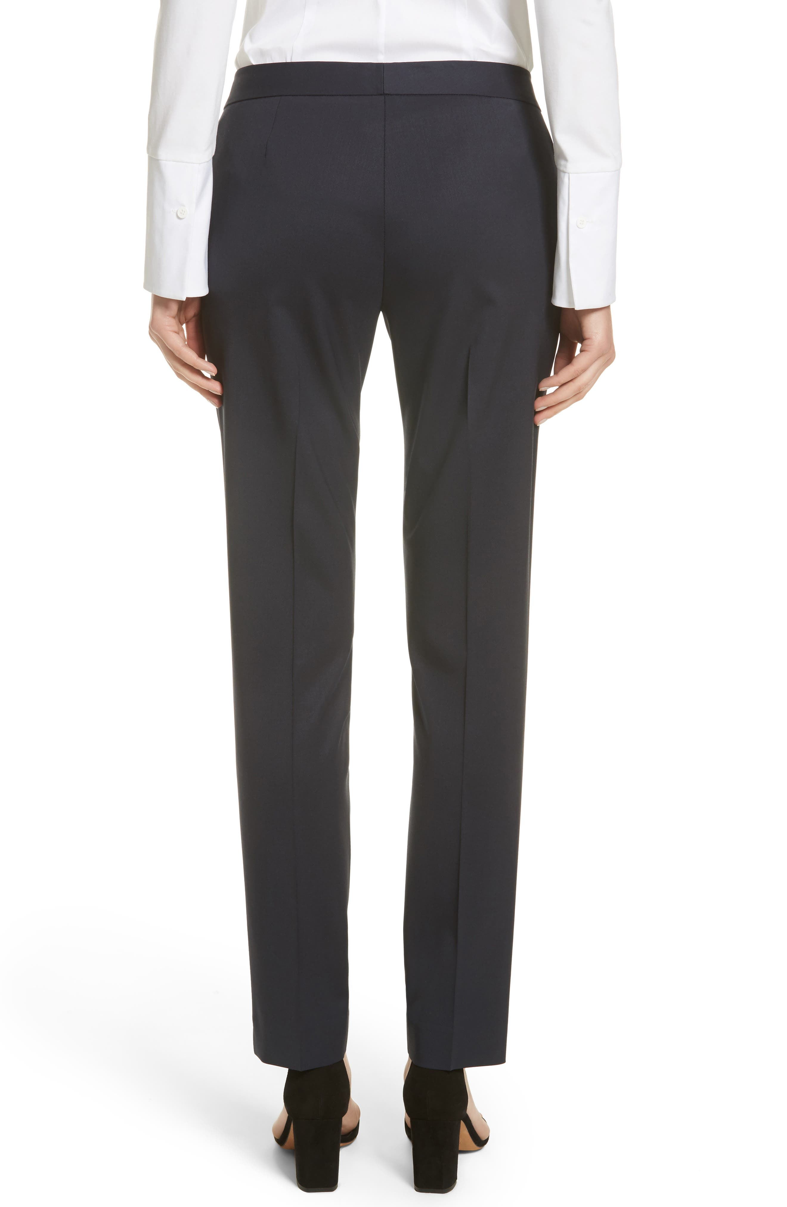Alternate Image 2  - Lafayette 148 New York Irving Stretch Wool Pants (Nordstrom Exclusive)