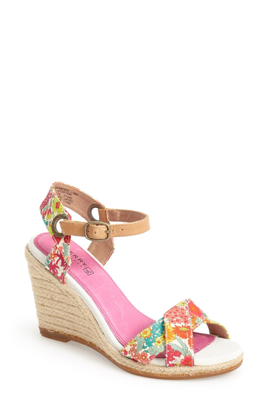 Alternate Image 1 Selected - Sperry 'Saylor' Espadrille Wedge Sandal (Women)