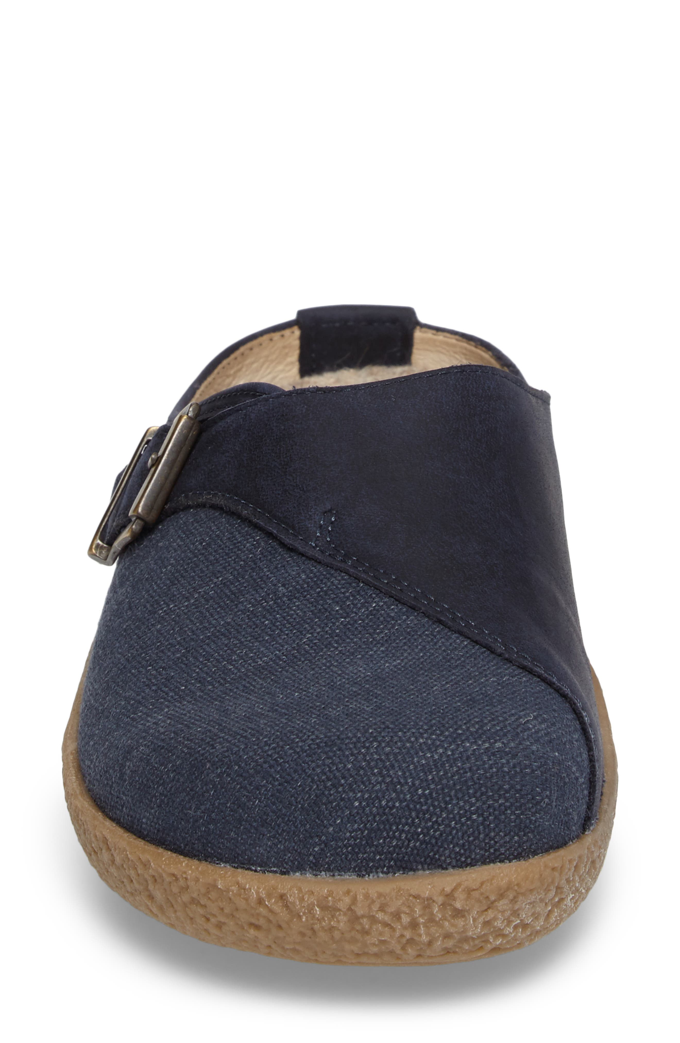 Radler Slipper Mule,                             Alternate thumbnail 4, color,                             Jeans Leather