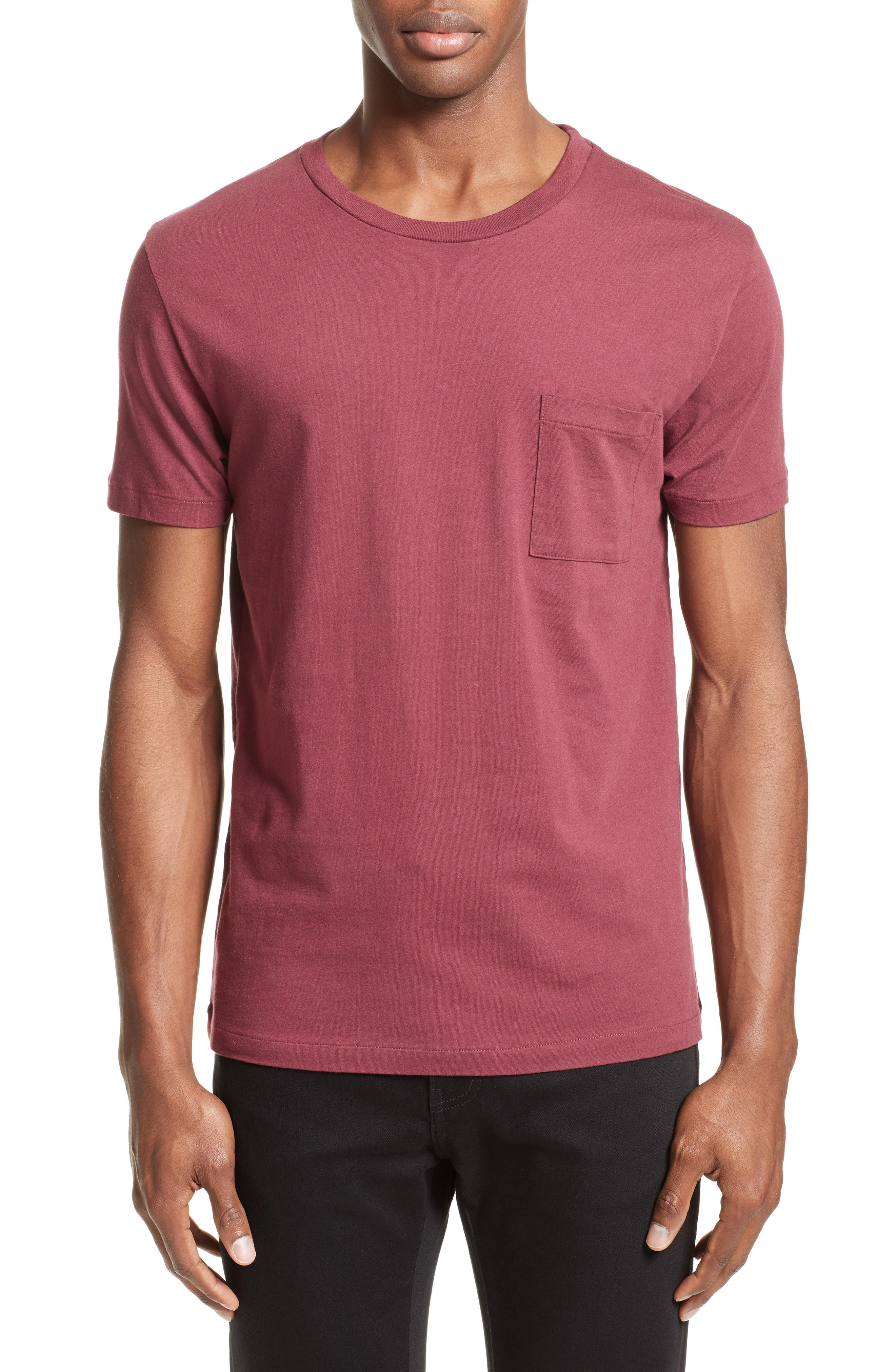Pocket T-Shirt,                         Main,                         color, Red