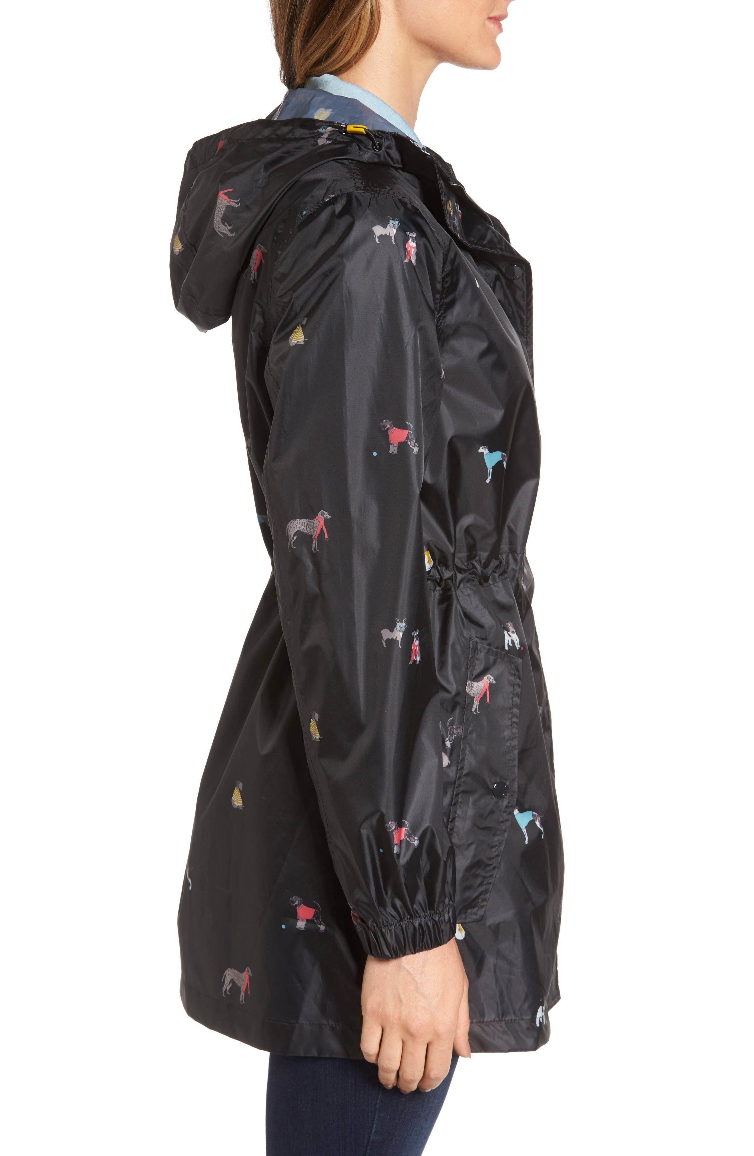 Alternate Image 3  - Joules Right as Rain Packable Print Hooded Raincoat