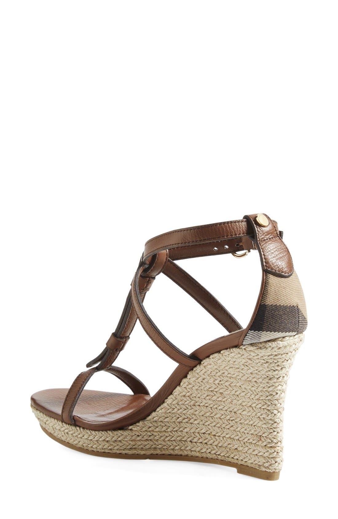 Alternate Image 2  - Burberry 'Wedland' Espadrille Wedge Sandal (Women)