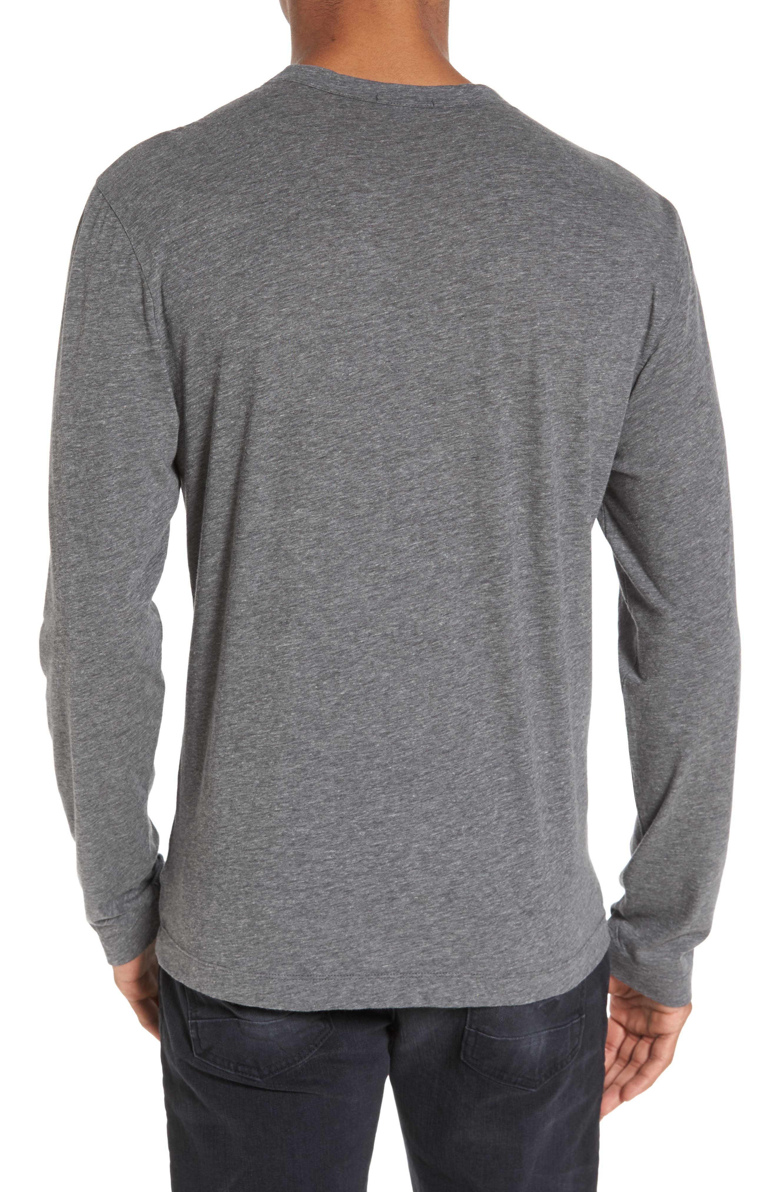 Alternate Image 2  - James Perse Mélange Knit Long Sleeve T-Shirt