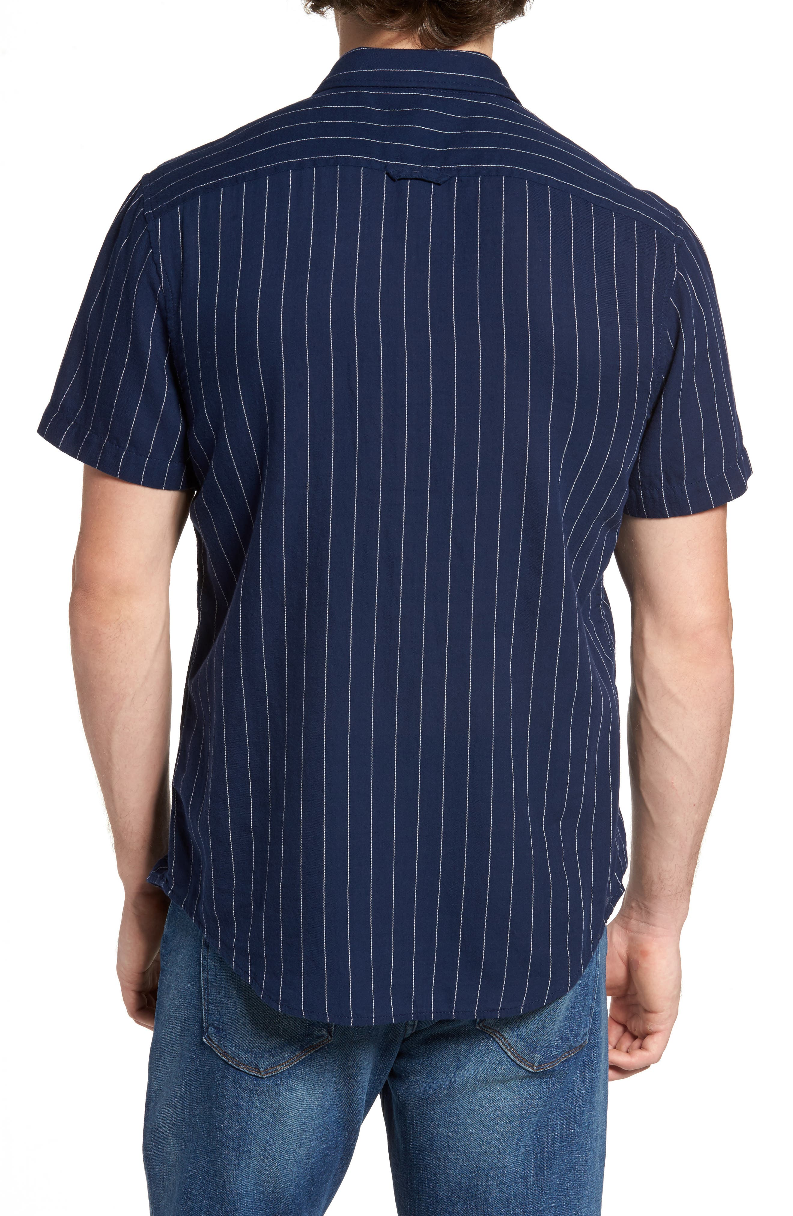 Alternate Image 2  - 1901 Stripe Twill Shirt