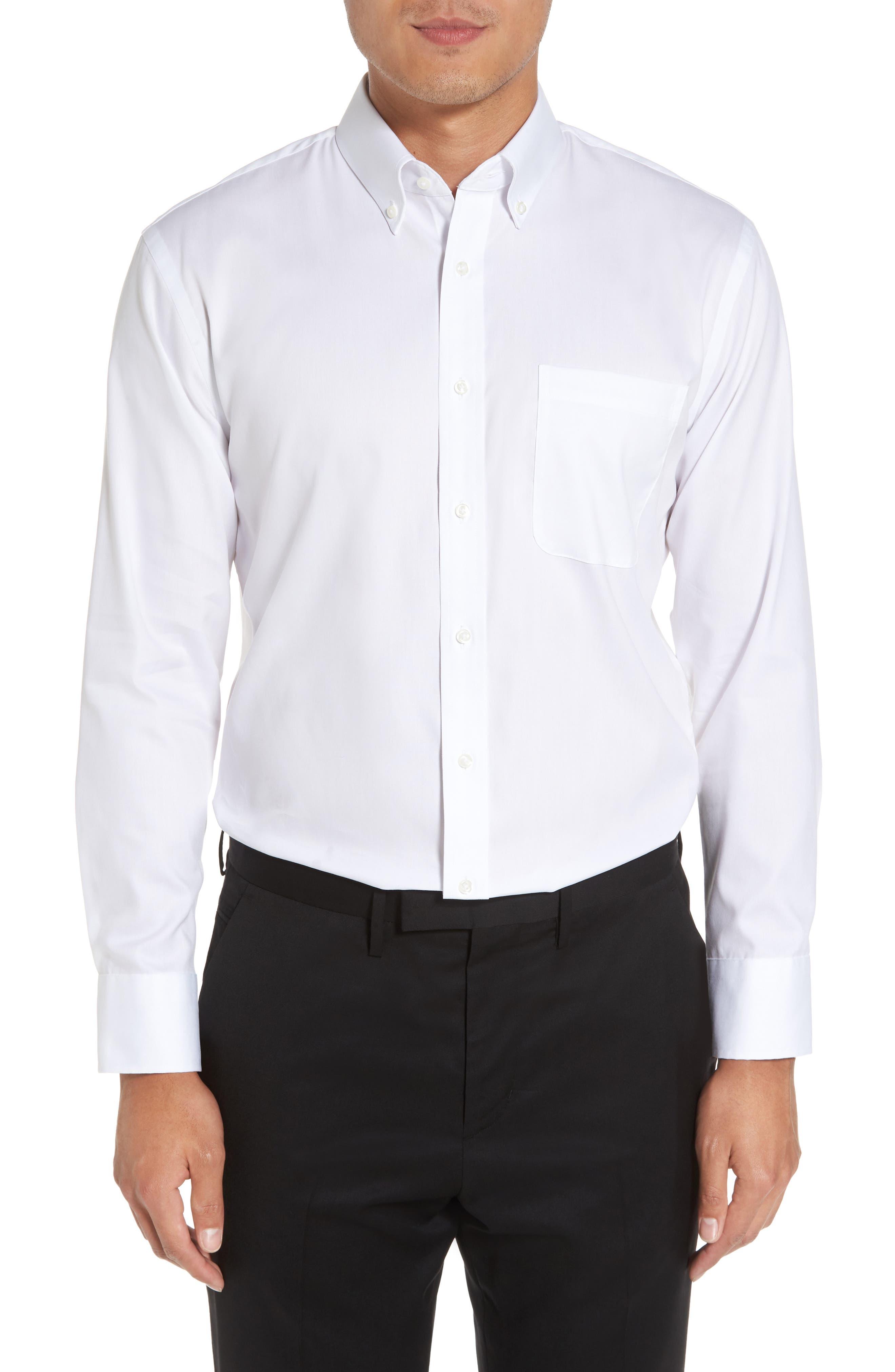 Alternate Image 1 Selected - Nordstrom Men's Shop Trim Fit Non-Iron Dress Shirt
