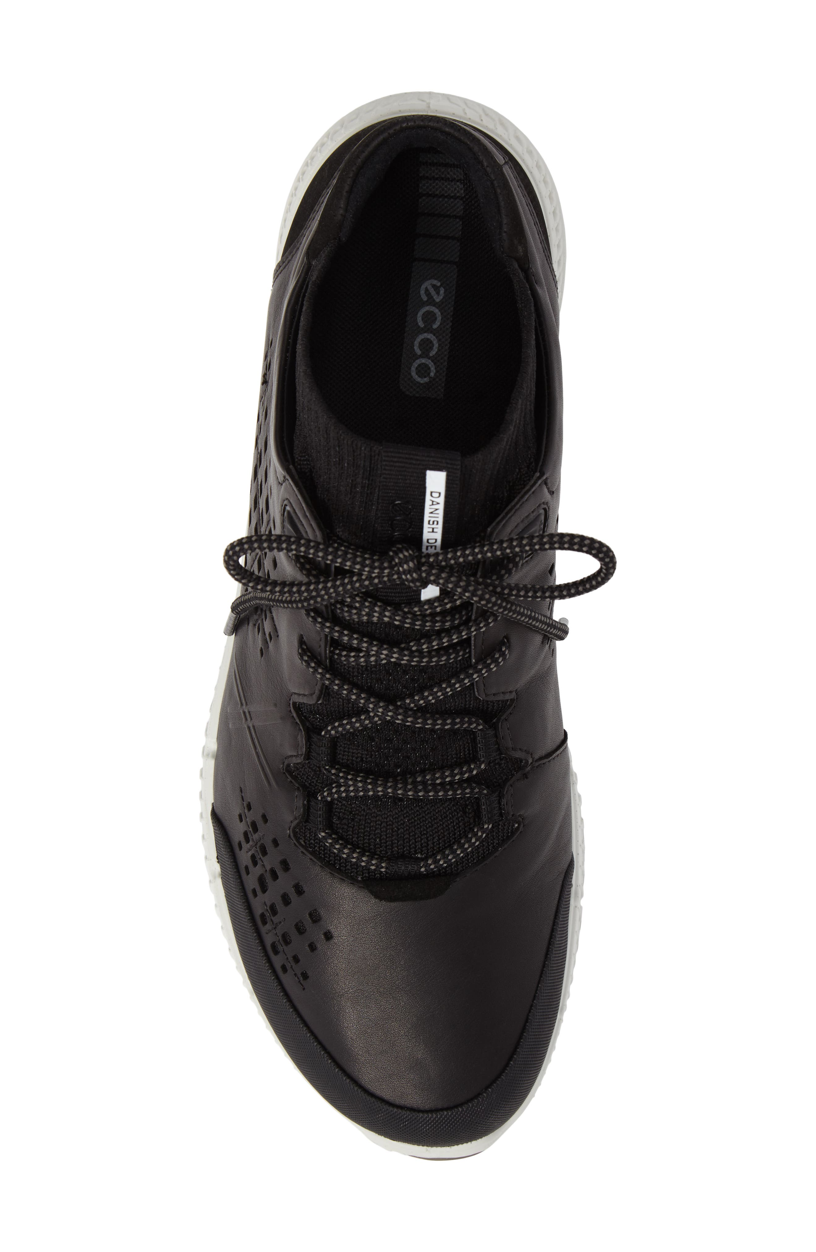 Intrinsic Mid Sneaker,                             Alternate thumbnail 5, color,                             Black Leather