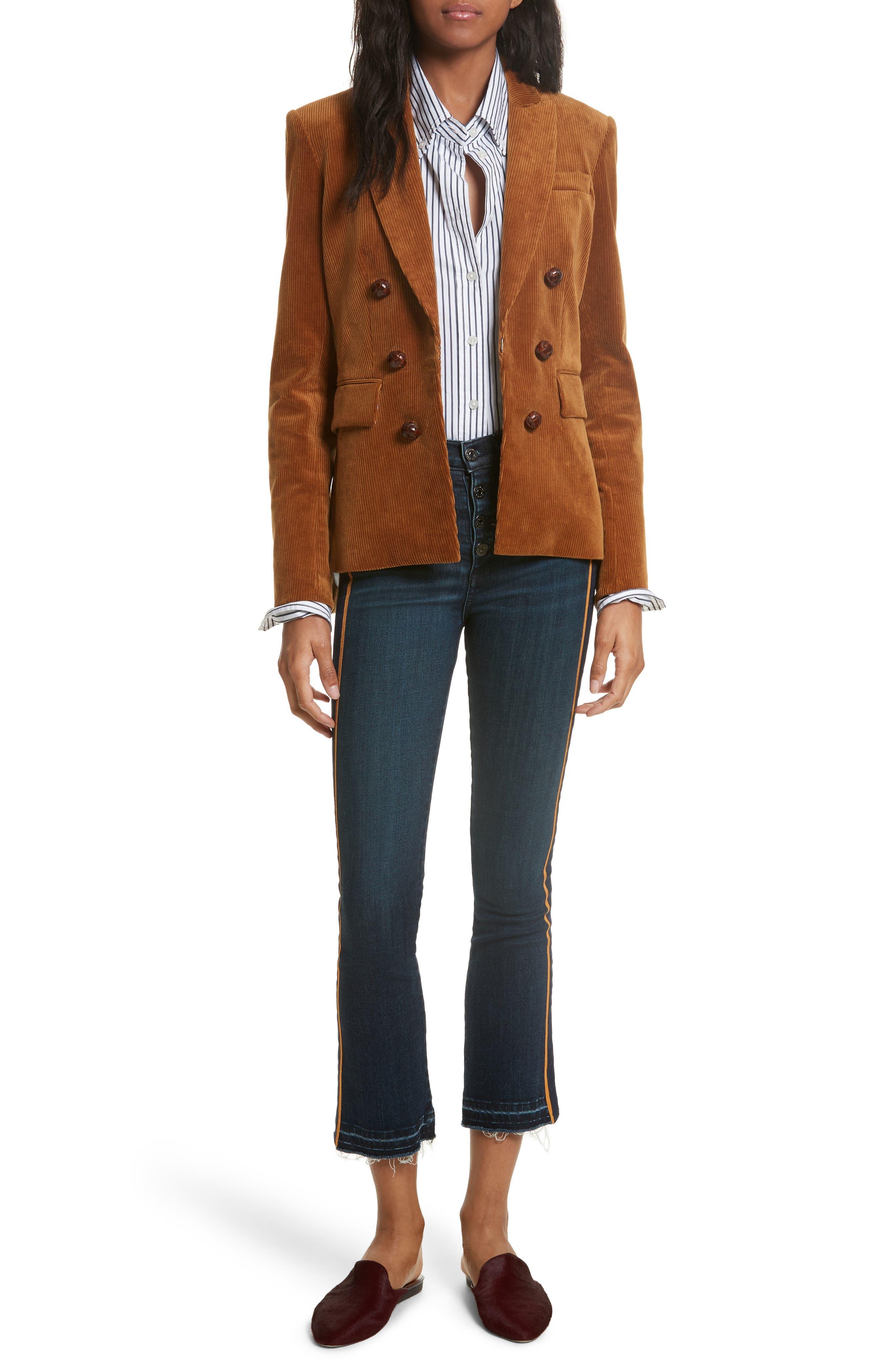 Alternate Image 8  - Veronica Beard Cliff Corduroy Cutaway Jacket
