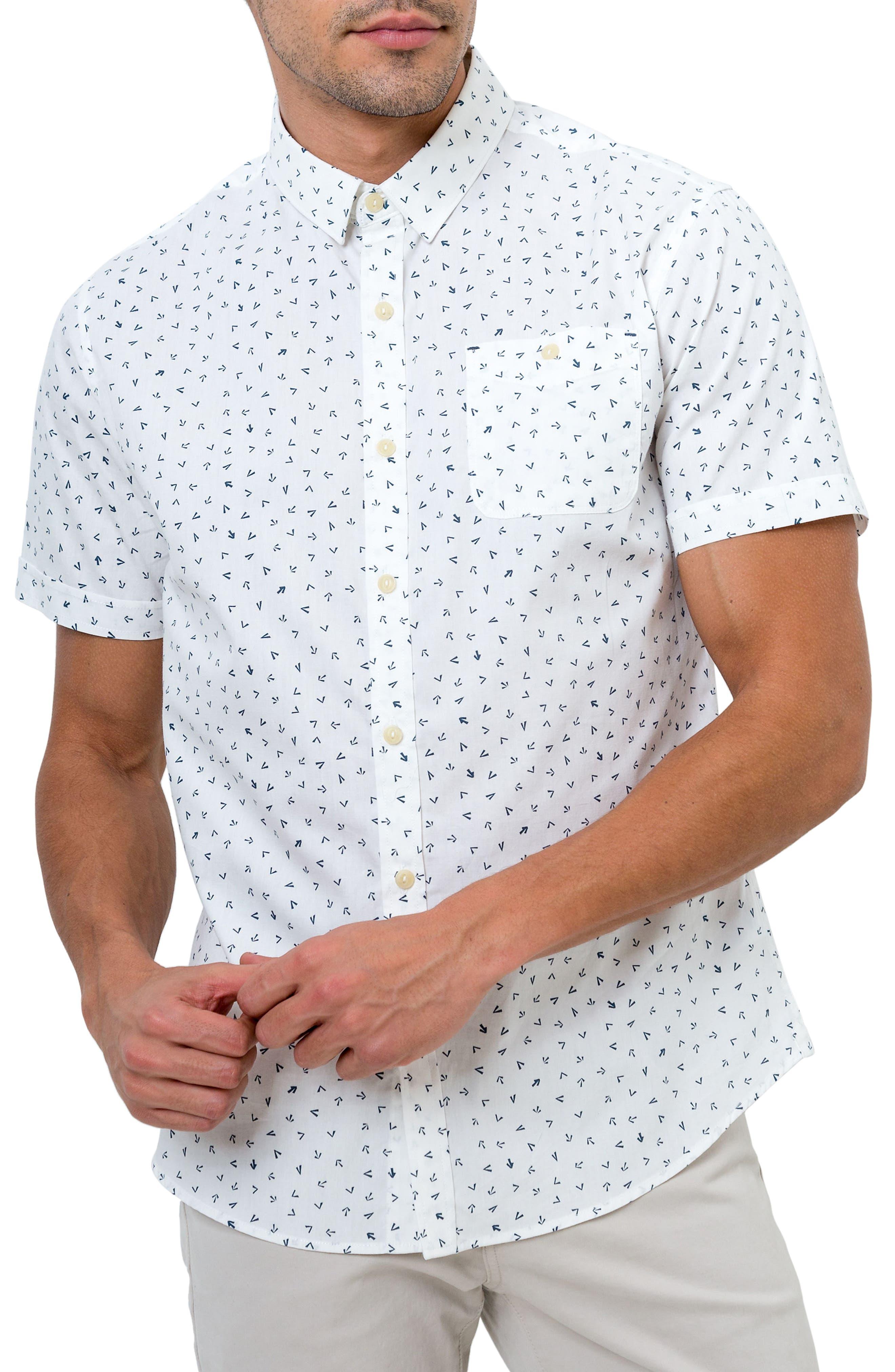 7 DIAMONDS New Tradition Print Woven Shirt