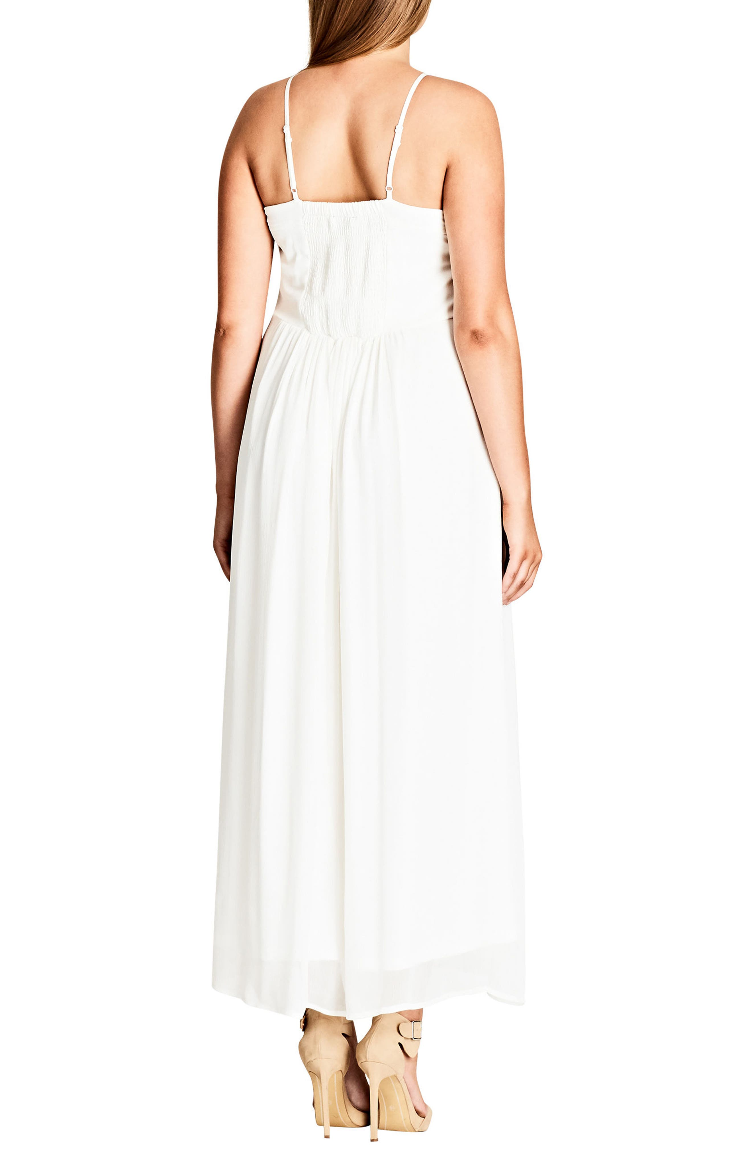 Alternate Image 2  - City Chic Purity Halter Style Maxi Dress (Plus Size)