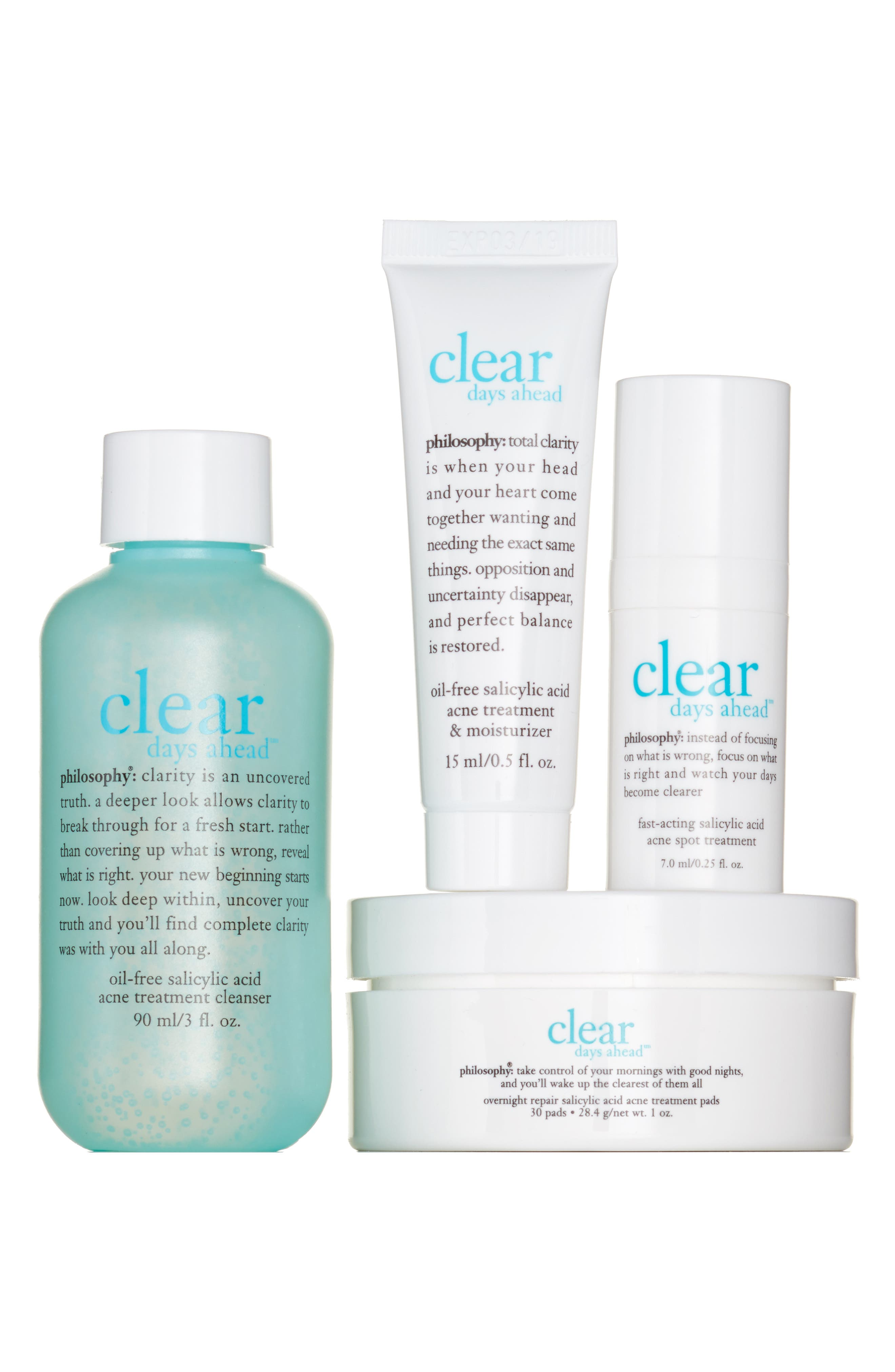 philosophy clear days ahead trial set ($49 Value)