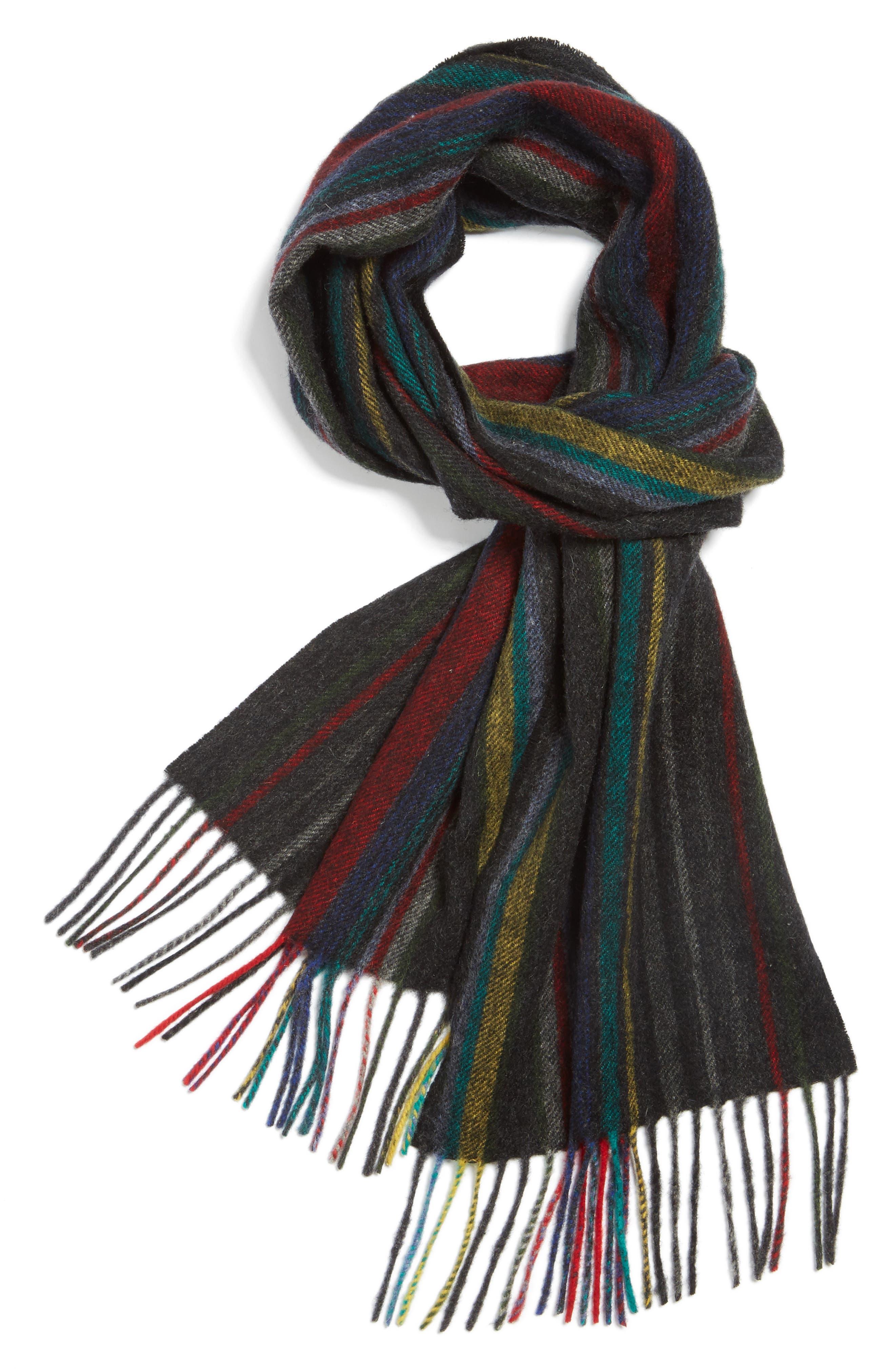Alternate Image 1 Selected - Paul Smith Stripe Wool Scarf