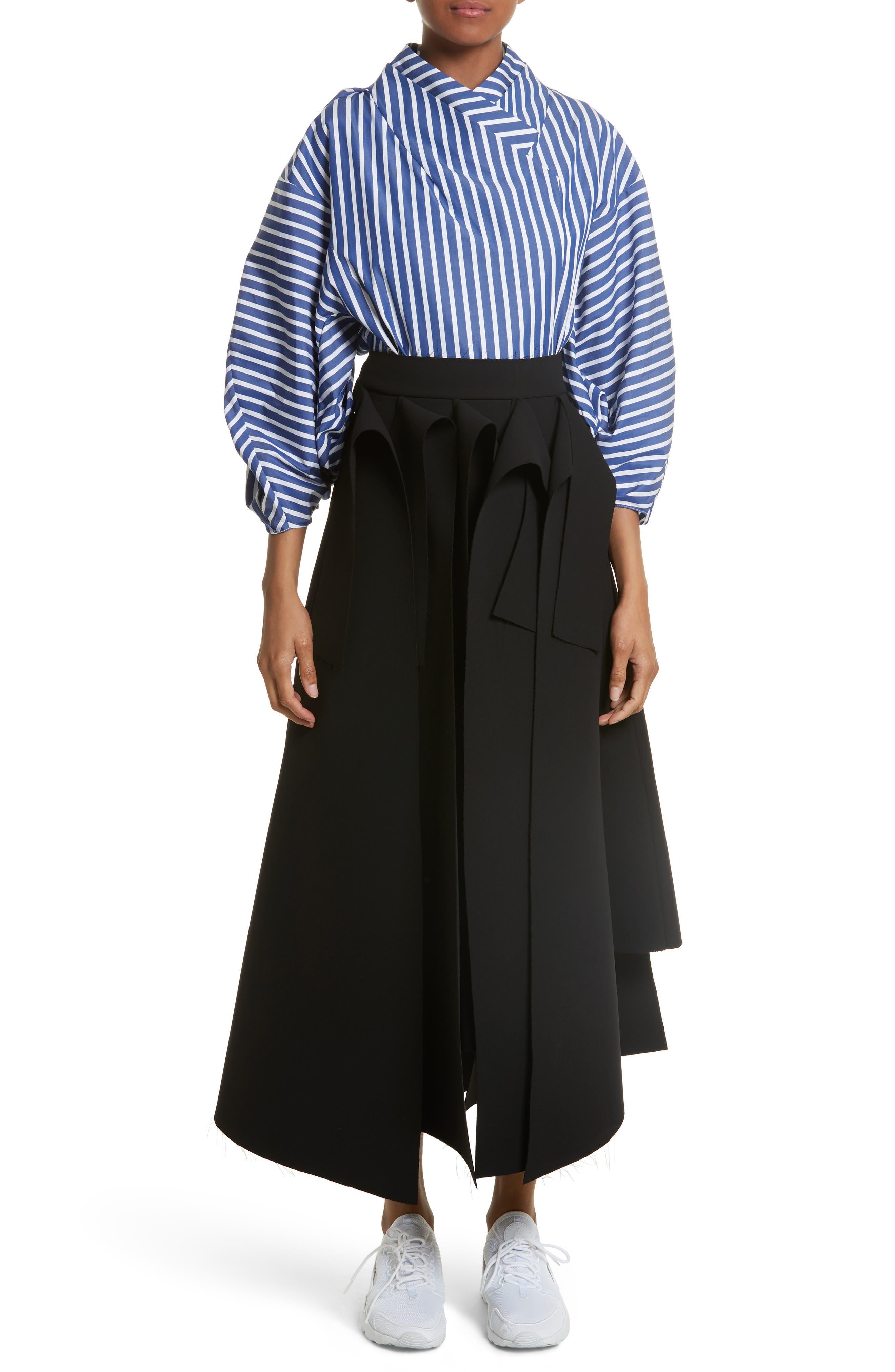 Alternate Image 7  - A.W.A.K.E. Asymmetric Panel Skirt