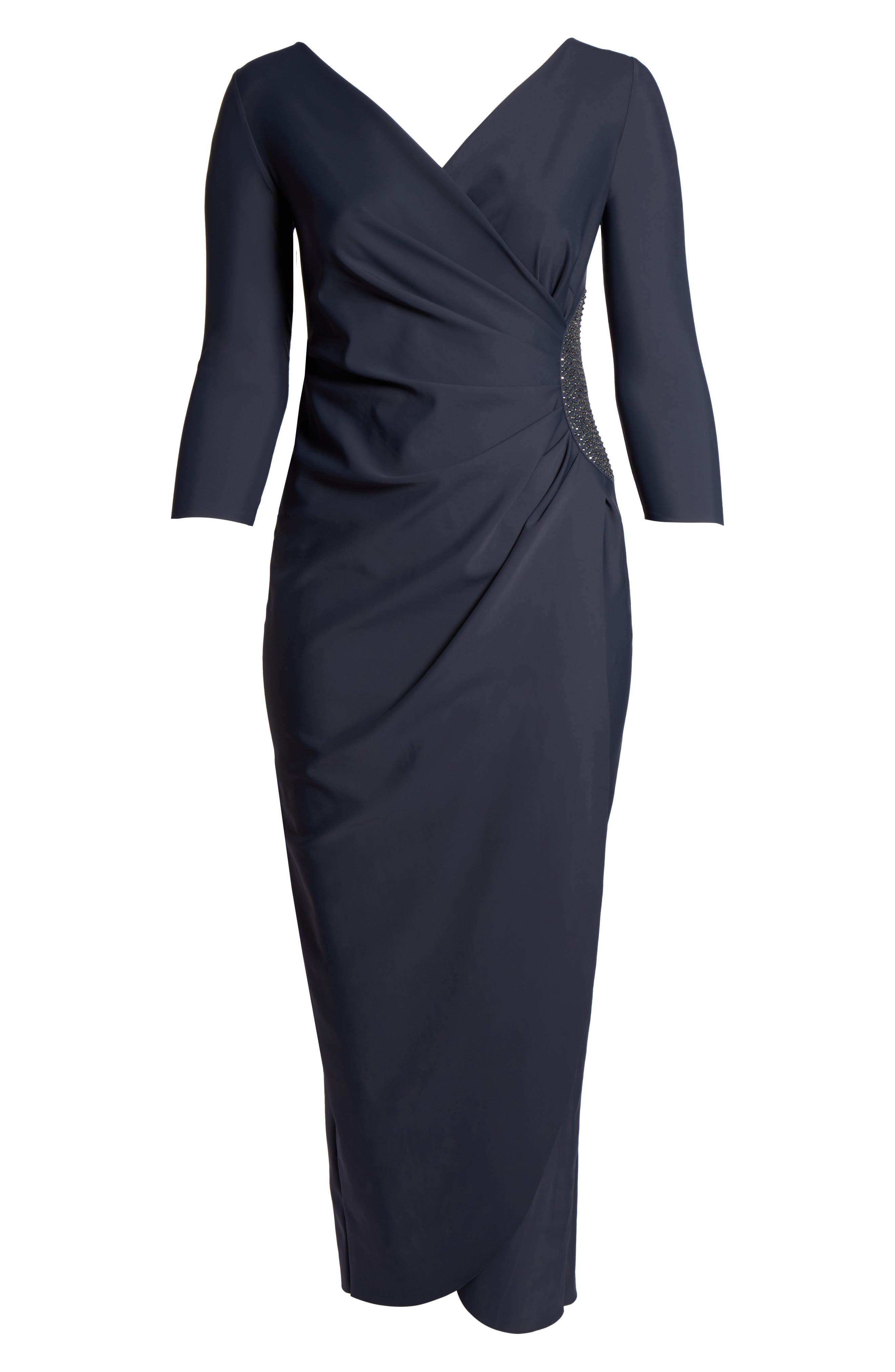 Alternate Image 6  - Alex Evenings Embellished Side Ruched Jersey Gown (Plus Size)