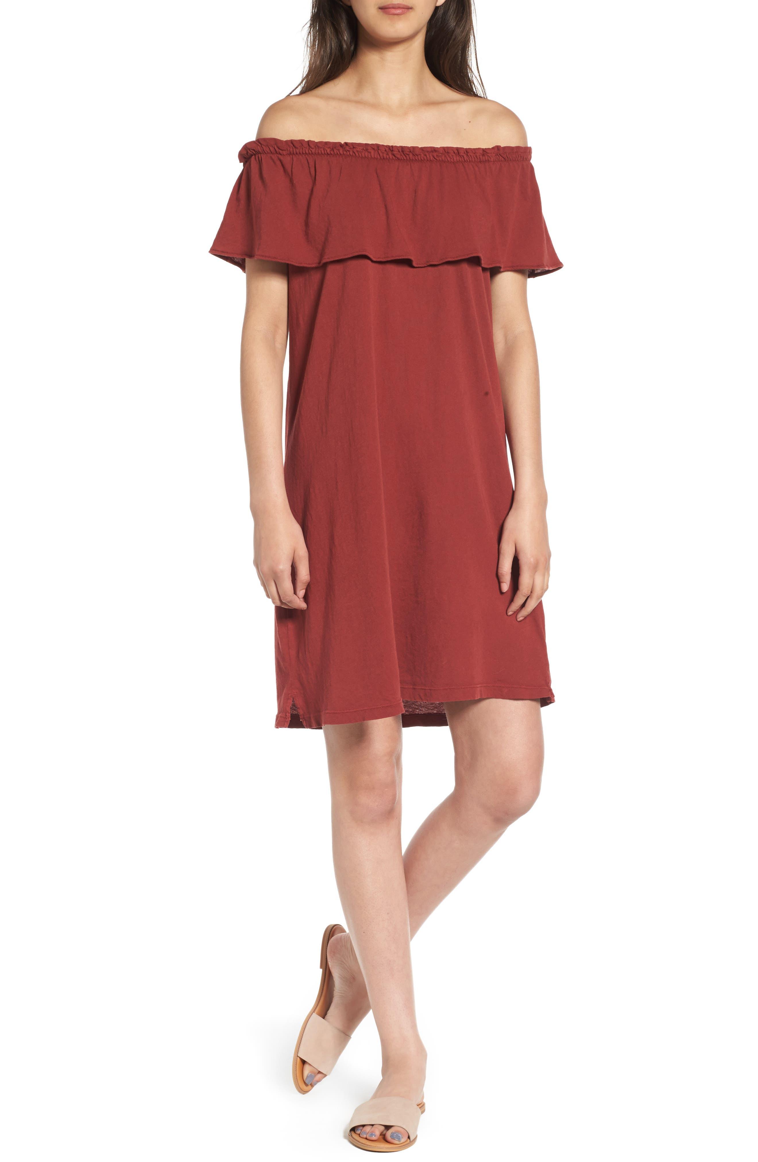 Current/Elliott Ruffle Off the Shoulder Dress