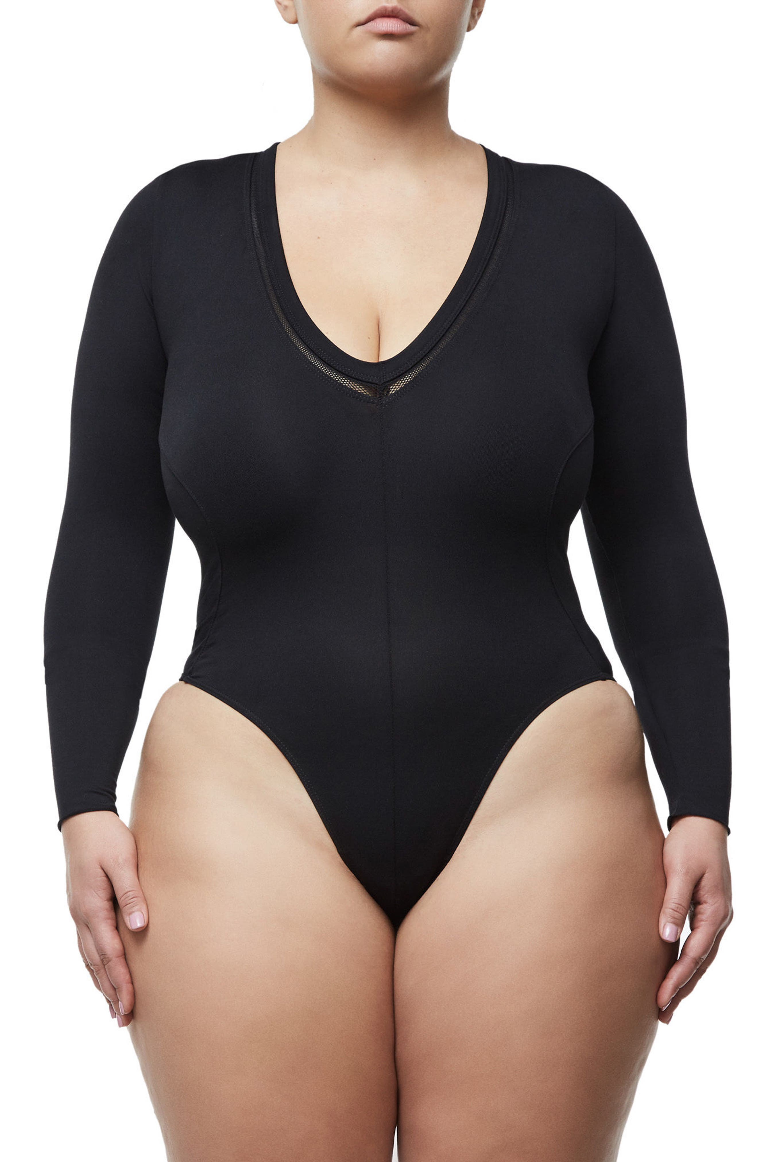 Alternate Image 6  - Good Body Low Down Bodysuit (Extended Sizes)