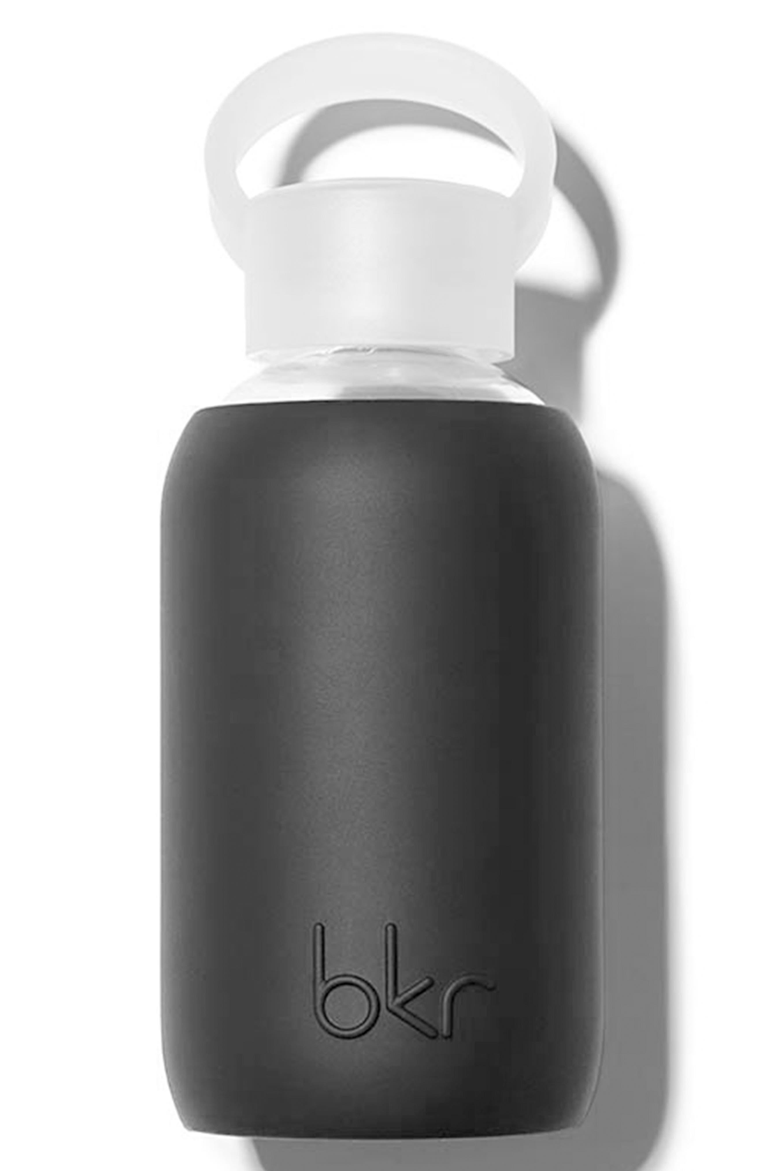 8-Ounce Glass Water Bottle,                             Main thumbnail 1, color,                             Jet