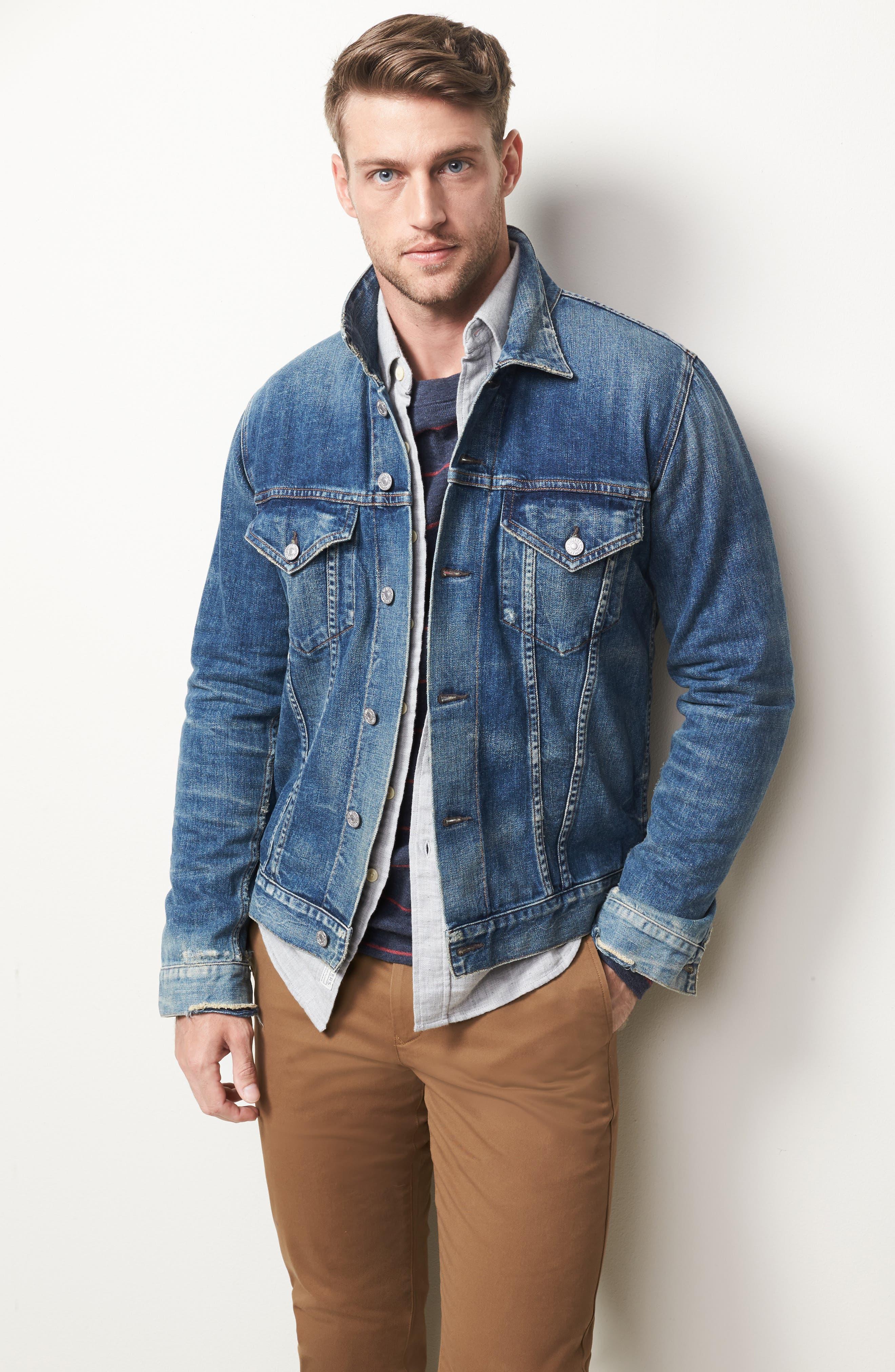 Alternate Image 6  - Grayers Chester Modern Fit Double Cloth Herringbone Sport Shirt