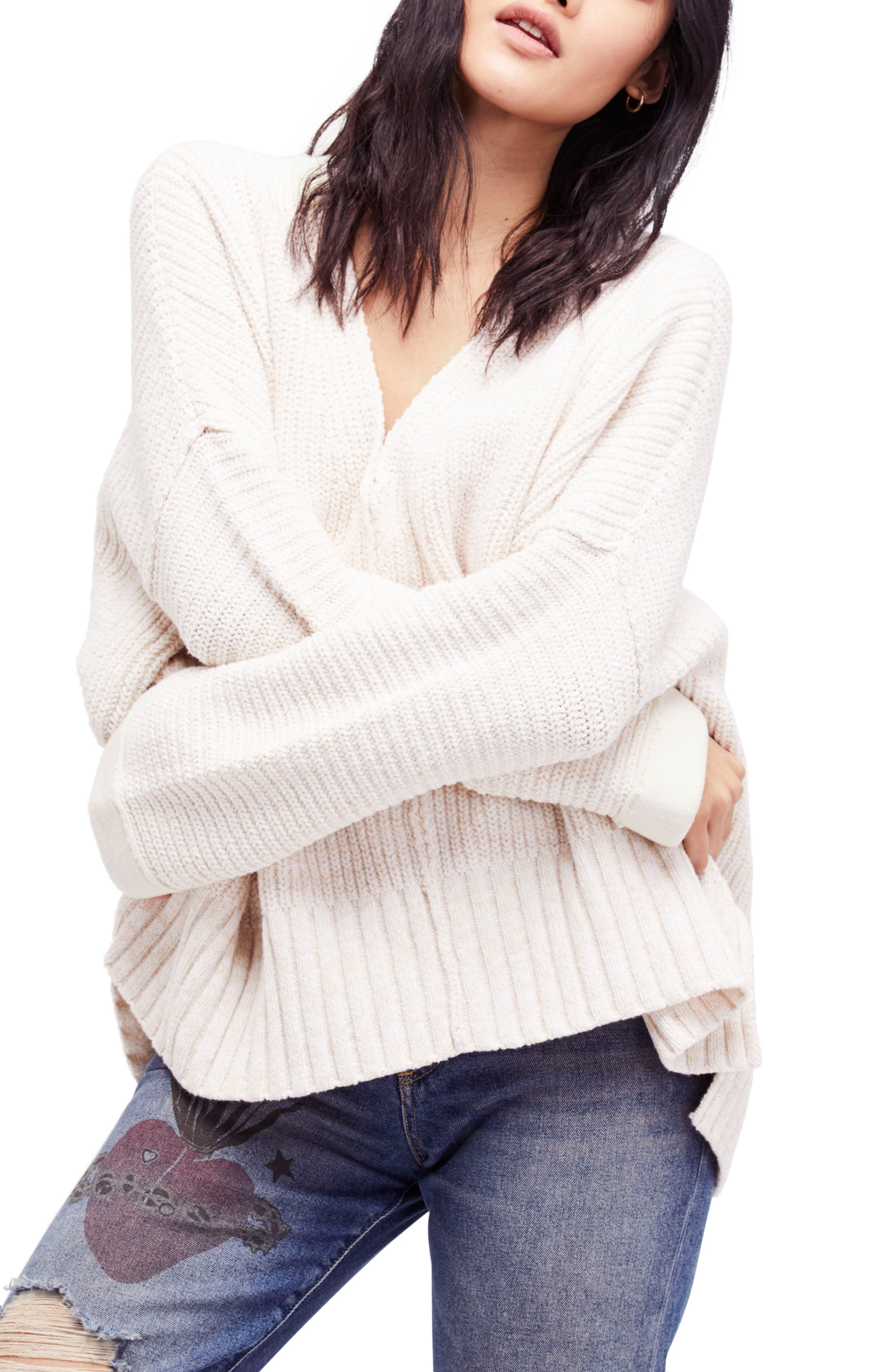 Free People Take Over Me V-Neck Sweater