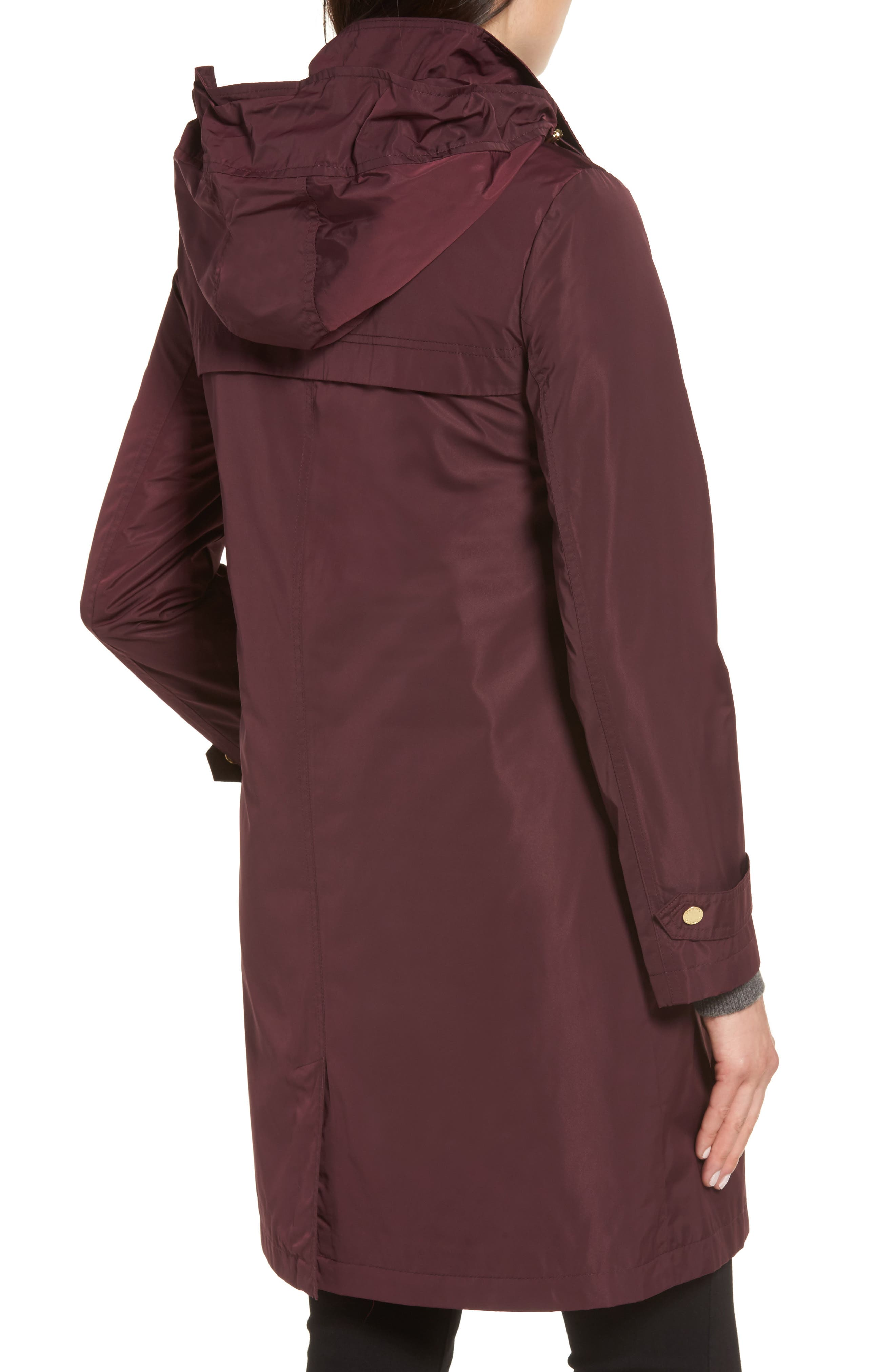 Alternate Image 2  - Ellen Tracy Raincoat with Detachable Hood