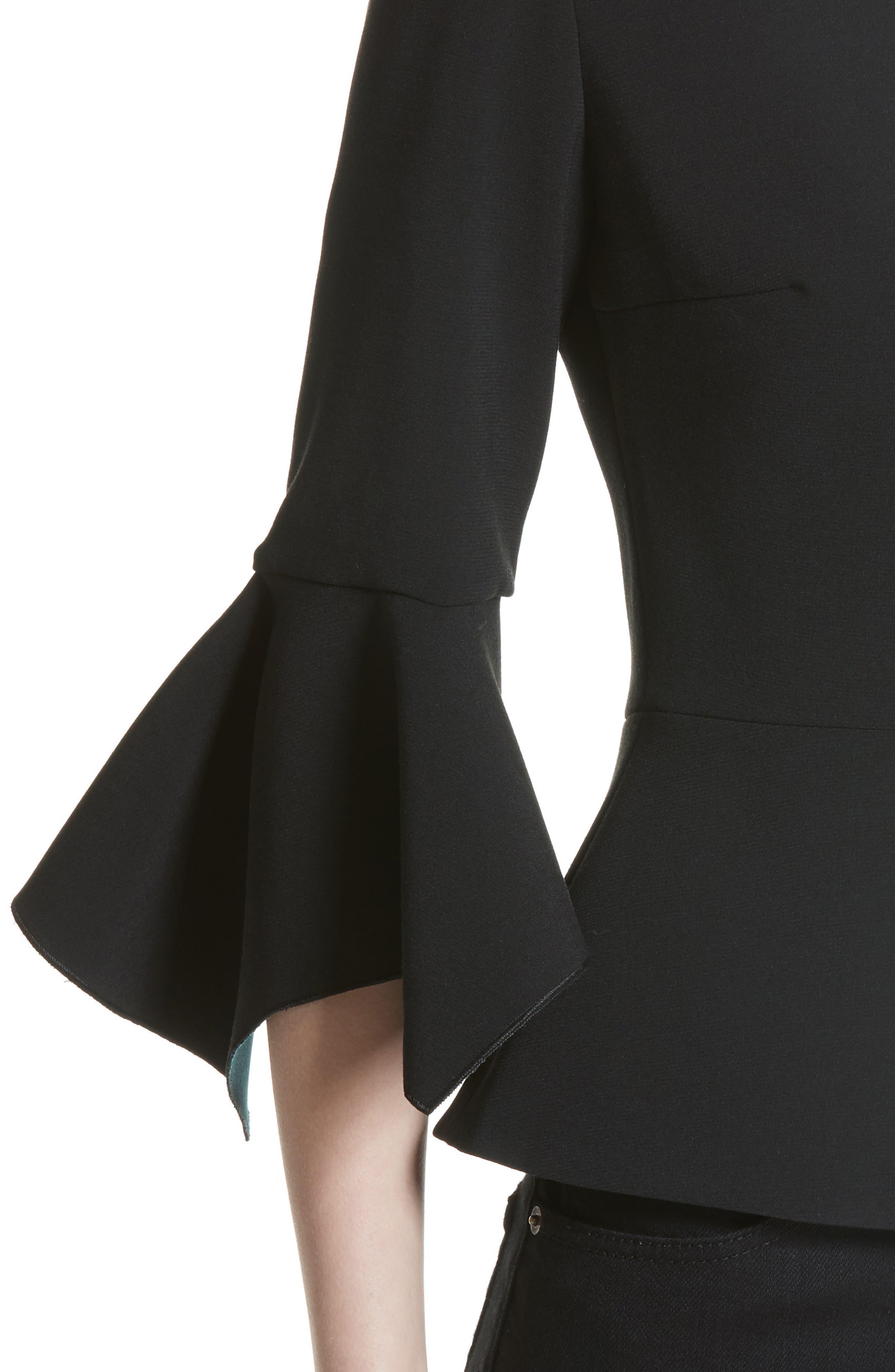 Alternate Image 6  - Roksanda Prila Flare Sleeve Crepe Top